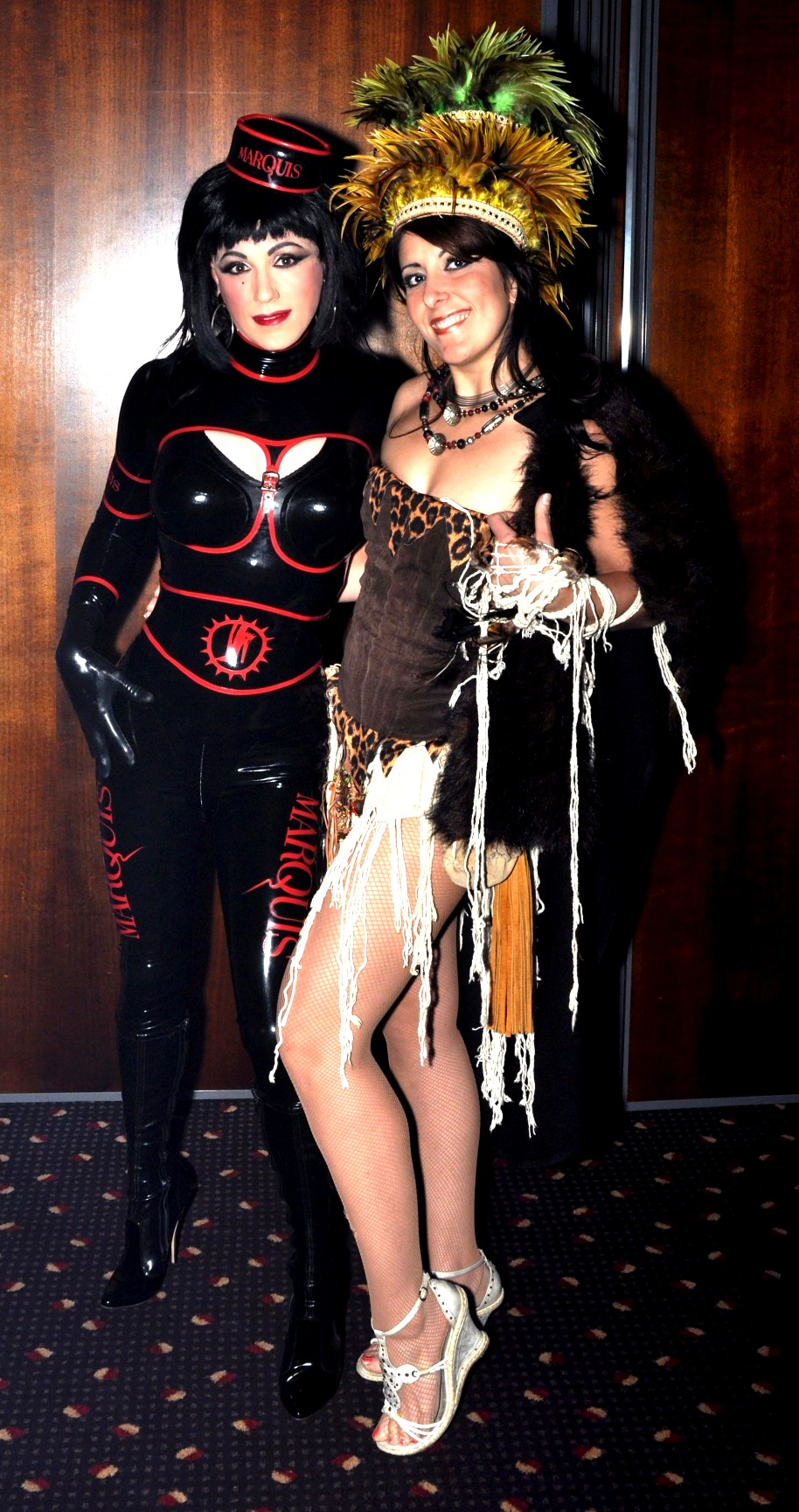 Choose role plays that suit a skimpy outfit. MKM as Voodoo Queen with Marquis Embassador, Nicci Tristan.