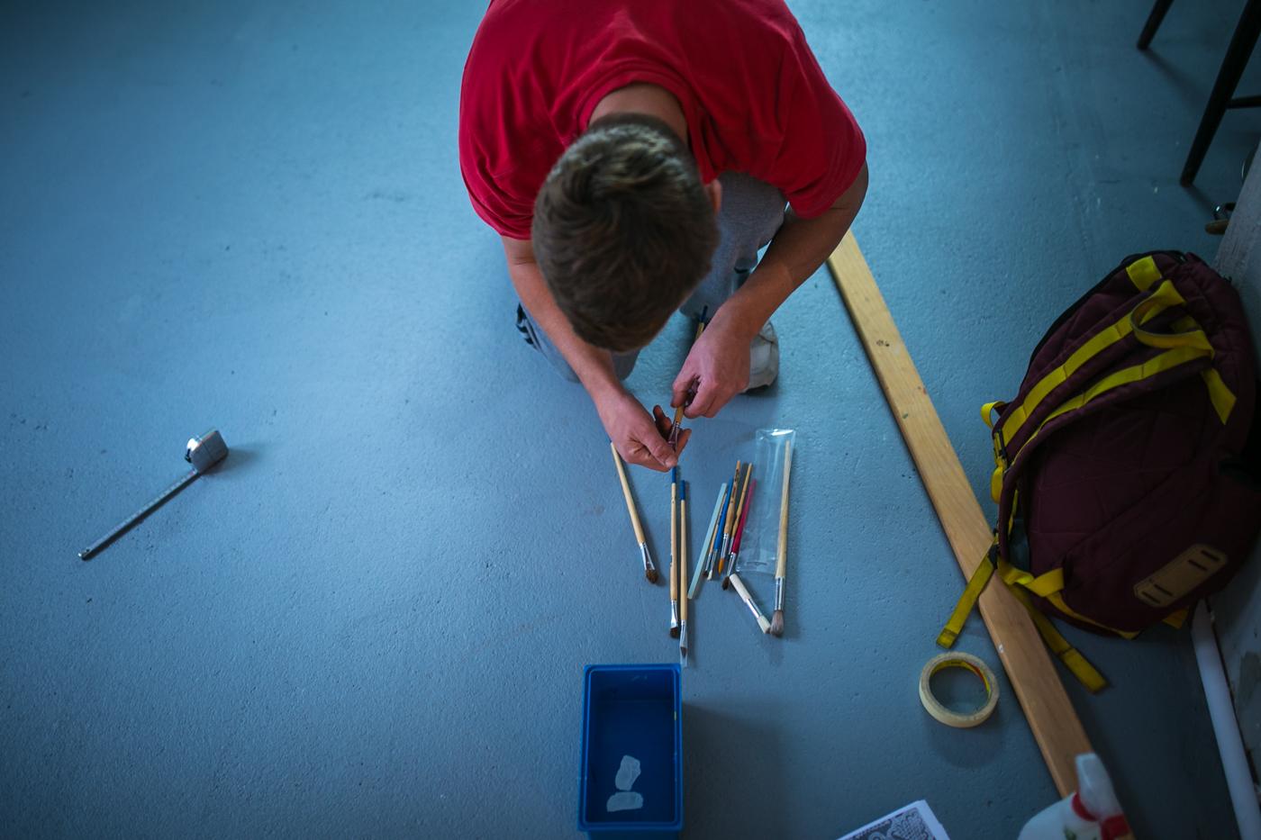 Pripremanje olitiga slaganje pribora za rad