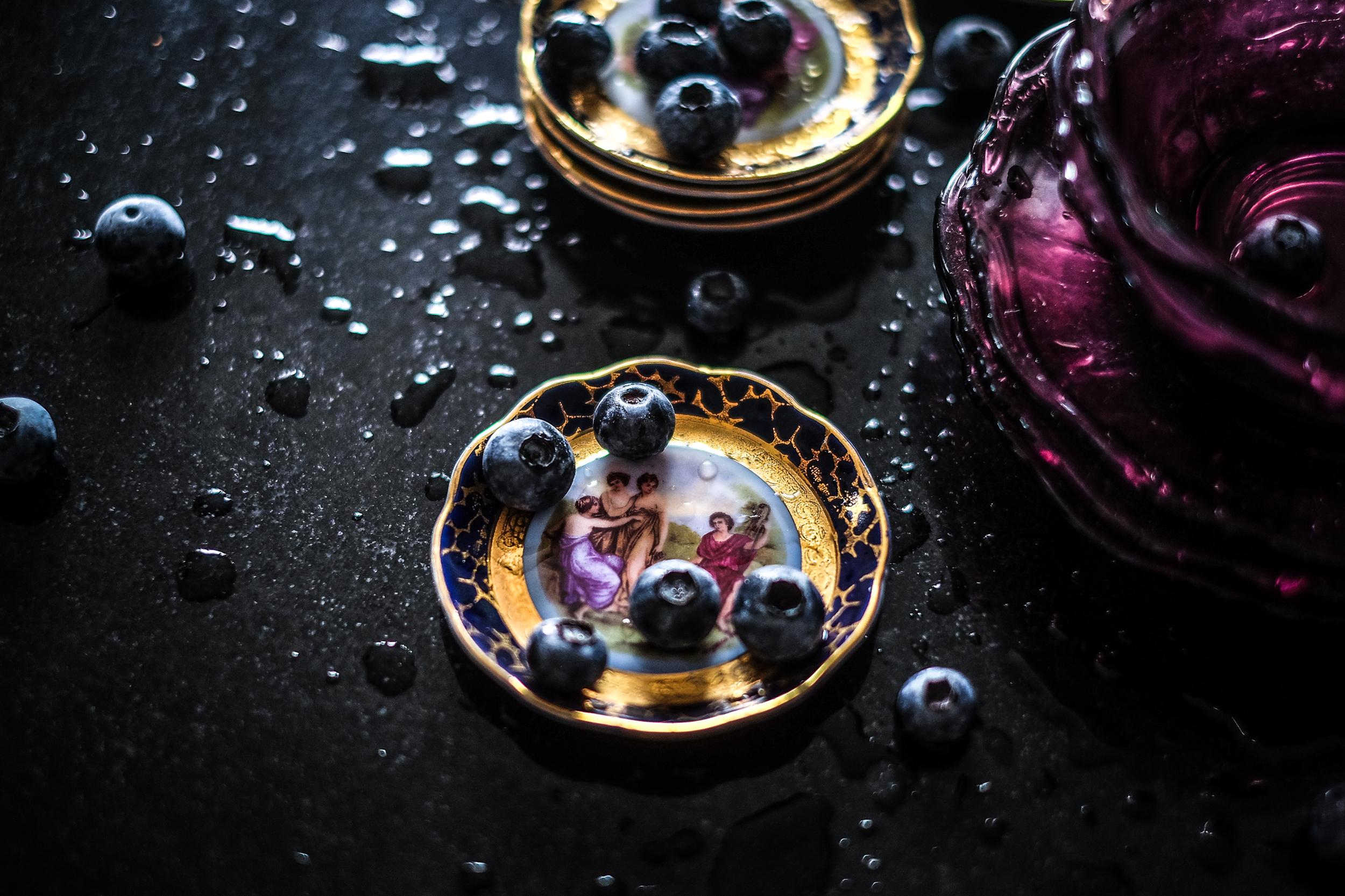 Bakini tanjurići, zdjelice & Rokove organske borovnice ... rustikalno meets moderno