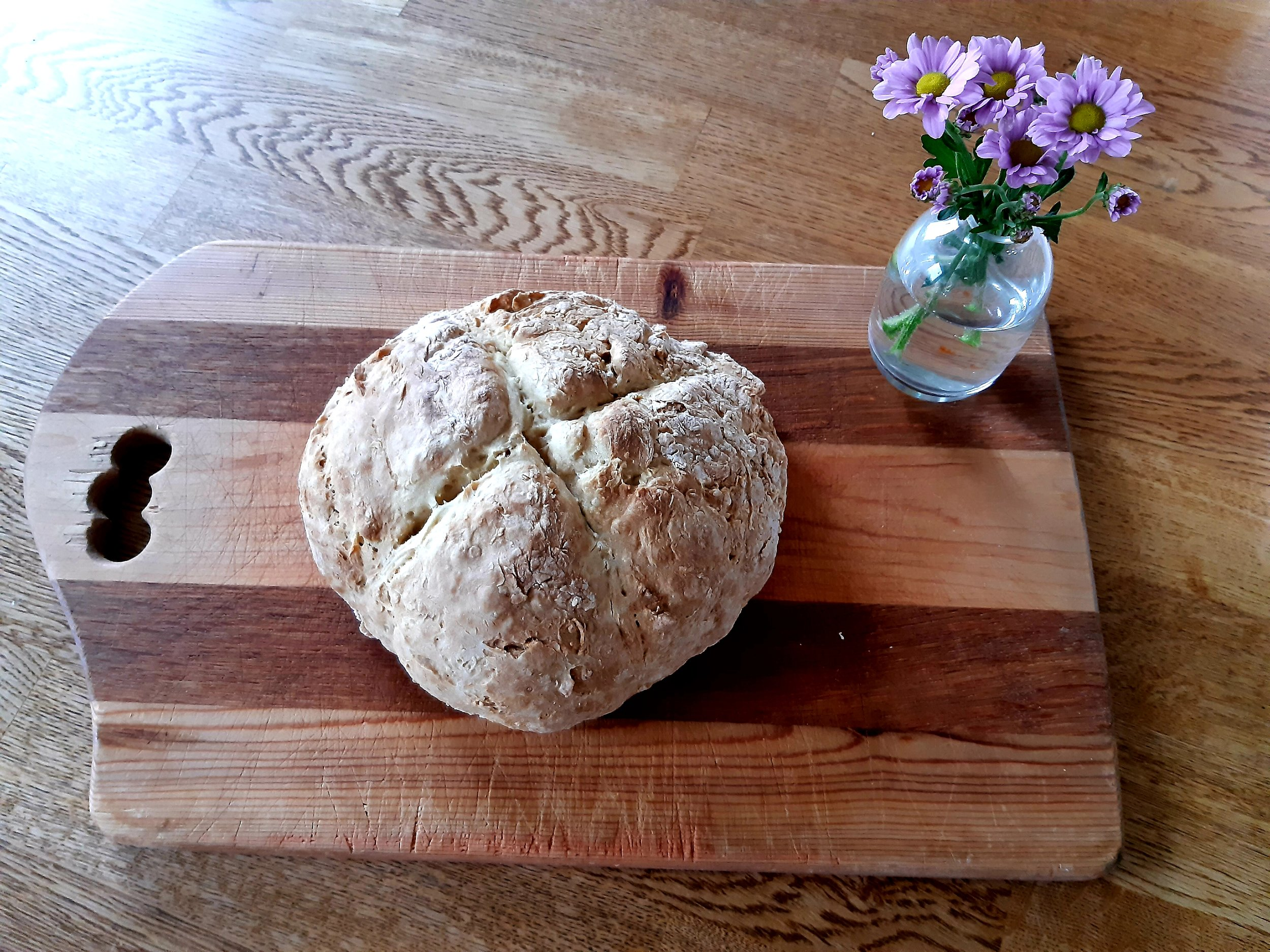 - This is what happens when my husband takes the kids to work for the day. I finished an entire client gallery AND I made my very first Irish soda bread. It was a roaring success with the Jolly gang :)