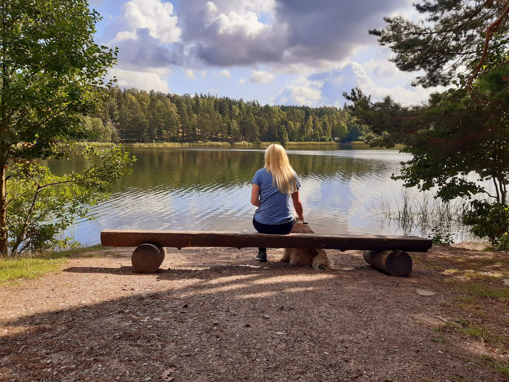 - Time to walk the dog and sit at my favourite spot in Sweden. They can scatter my ashes here when I'm gone… if it's not too illegal.