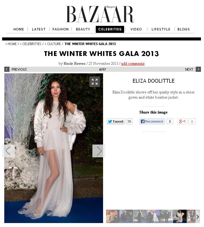elisa Doolittle wears vj's  12 tulle gown  ..