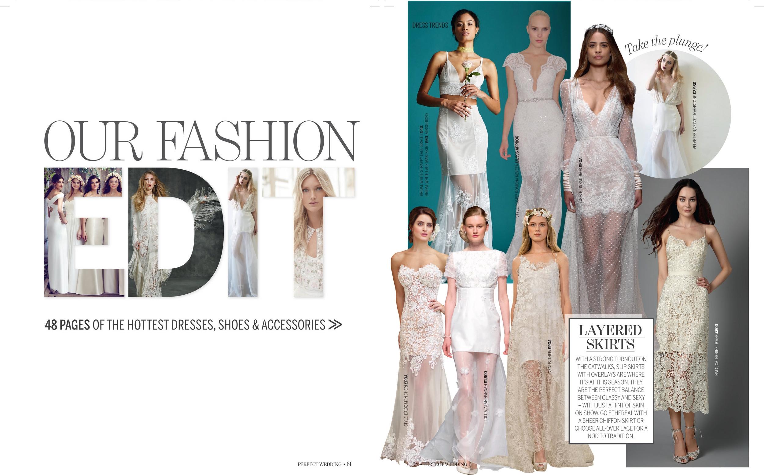 the velveteen in Perfect Wedding Magazine issue 132