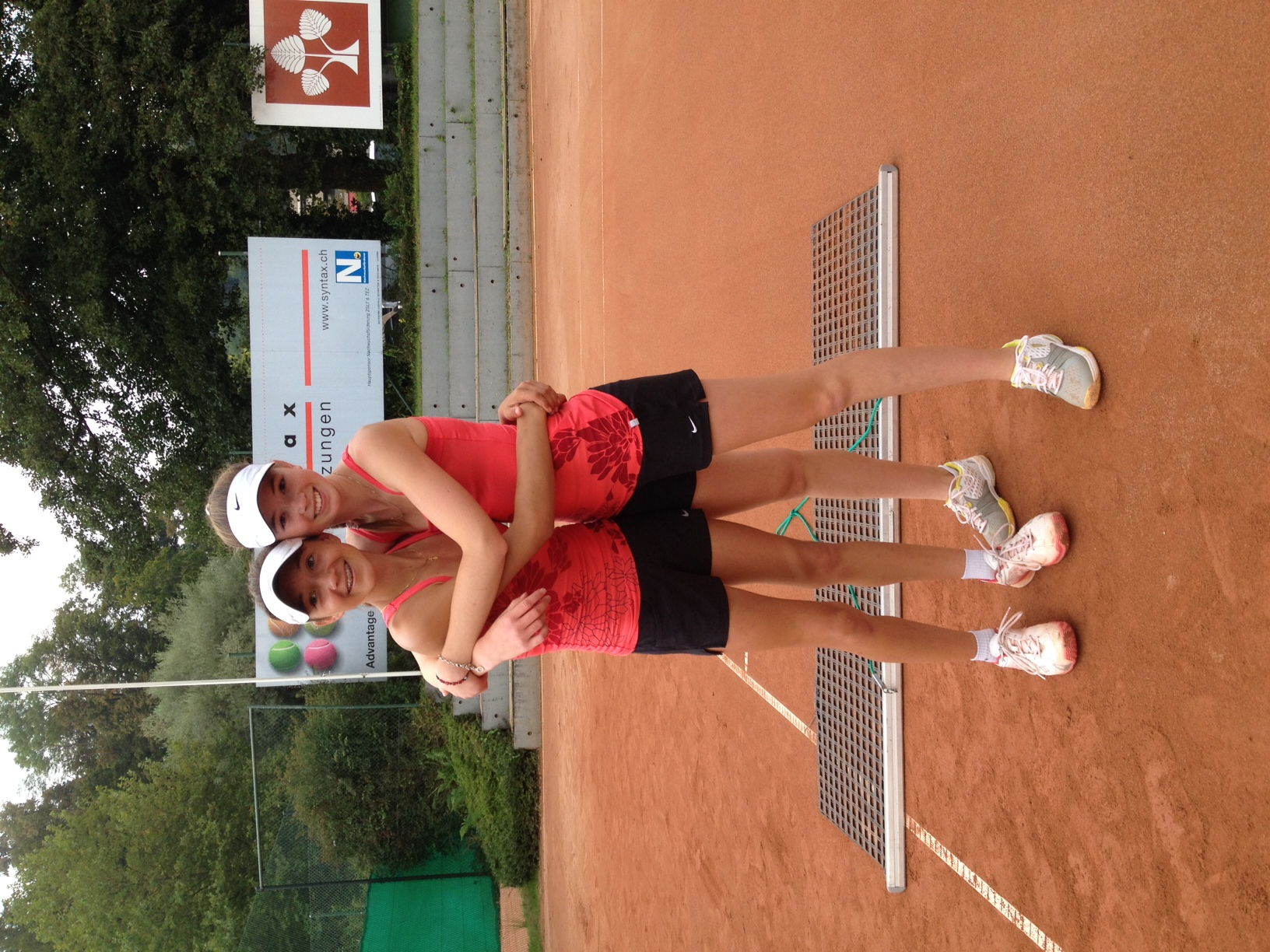 Leonie Küng and Simona Waltert …after a win in Doubles in Lucerne ITF U18 Grade 5