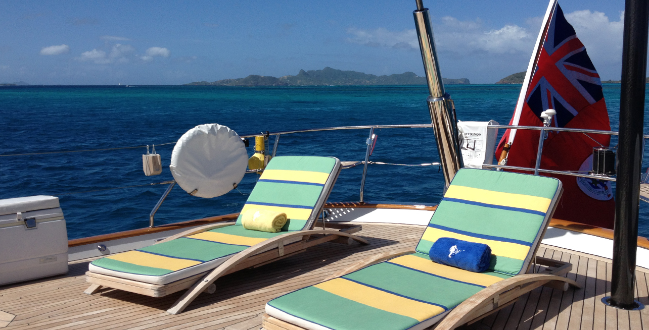 Whisper sailing in Tobago Cays