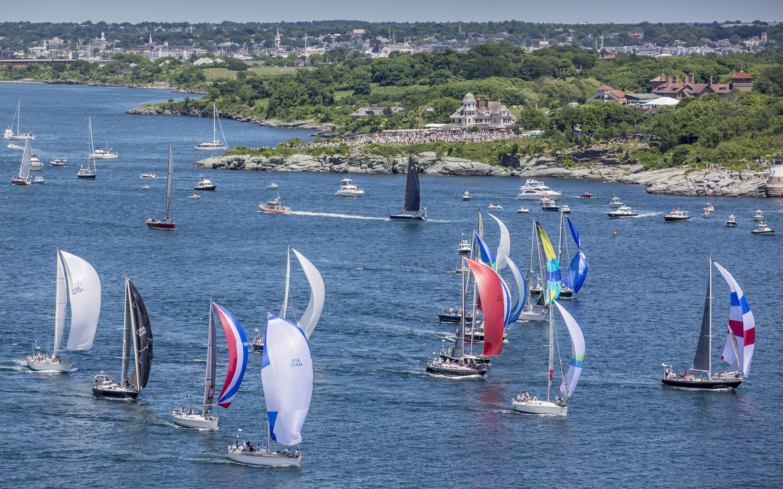 NEWPORT BERMUDA FLEET START OFF CASTLE HILL IN NEWPORT, R.I.  (PHOTO CREDIT: DANIEL FORSTER/PPL)