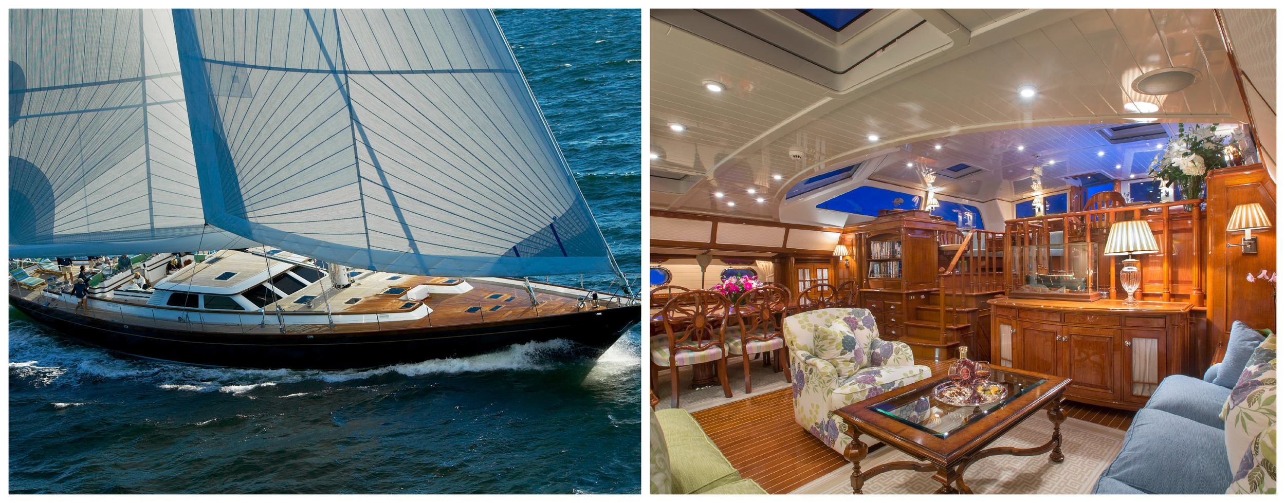 The 116-foot sloop Whisper will be participating in the 2015 Newport Charter Yacht Show