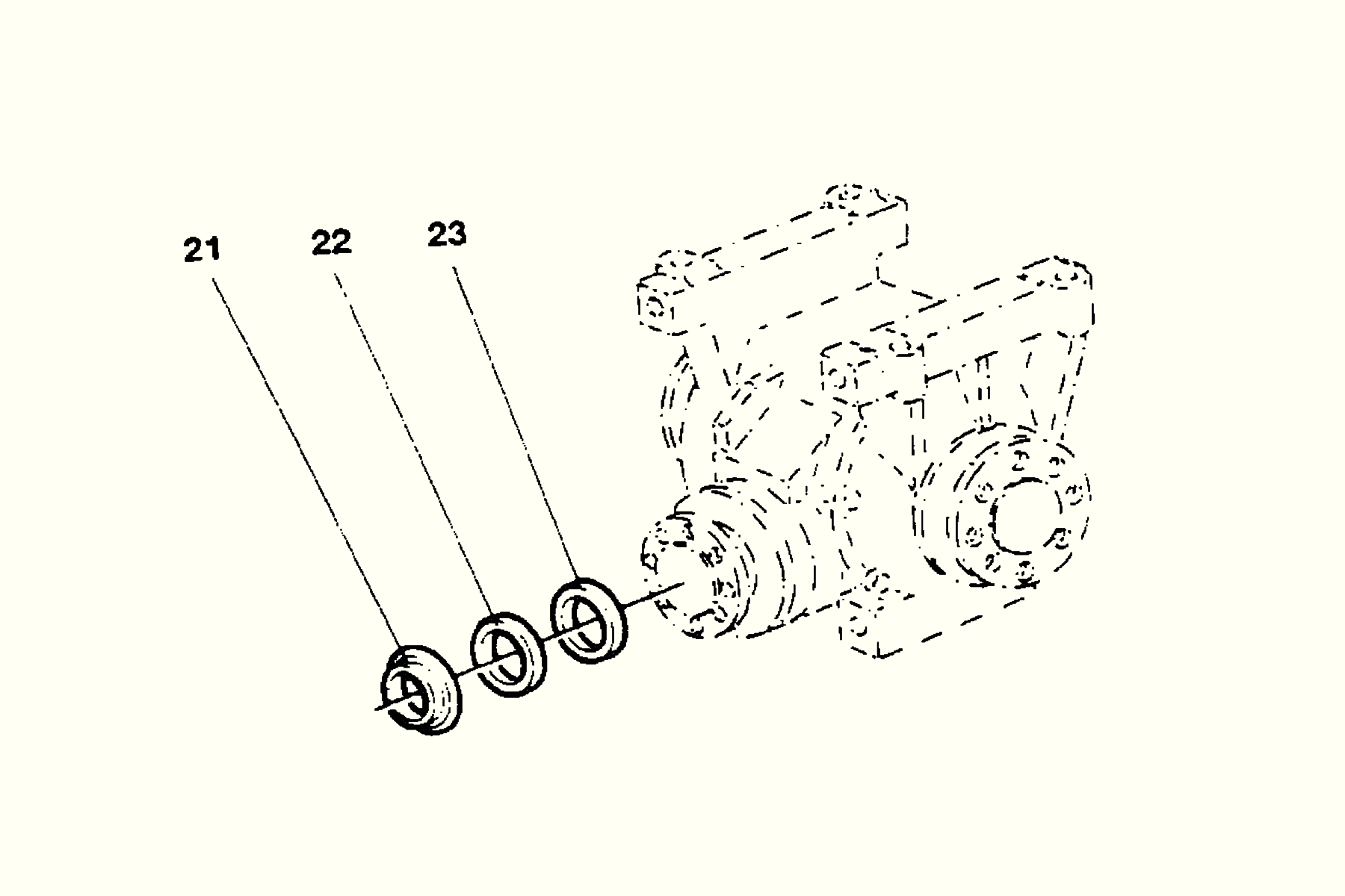 Gear Unit Sealing Kit Häggo Nr: 153 6140-803 Price: 100 SEK