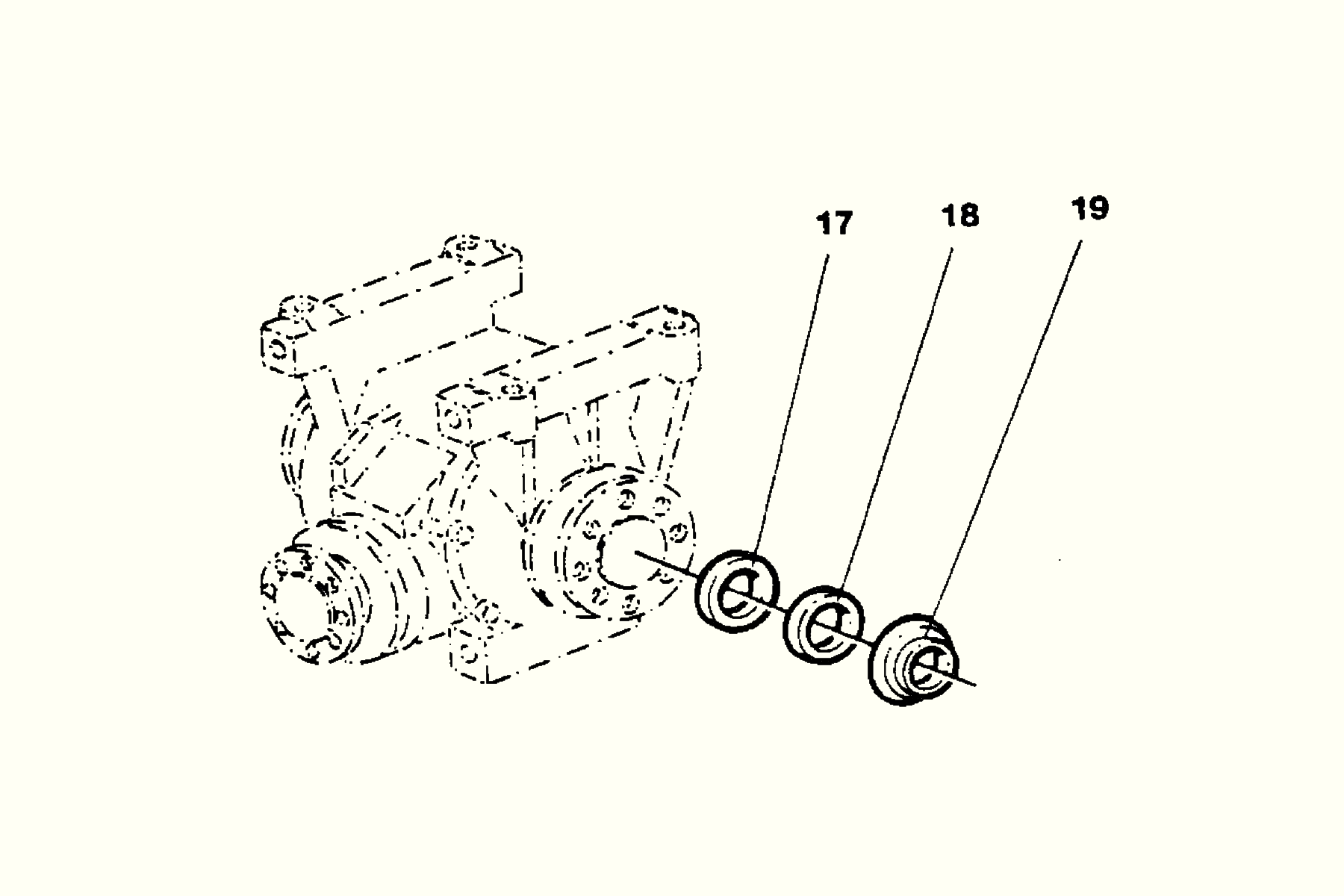 Gear unit Sealing kit Häggo Nr: 153 6140-804 Price: 100 SEK