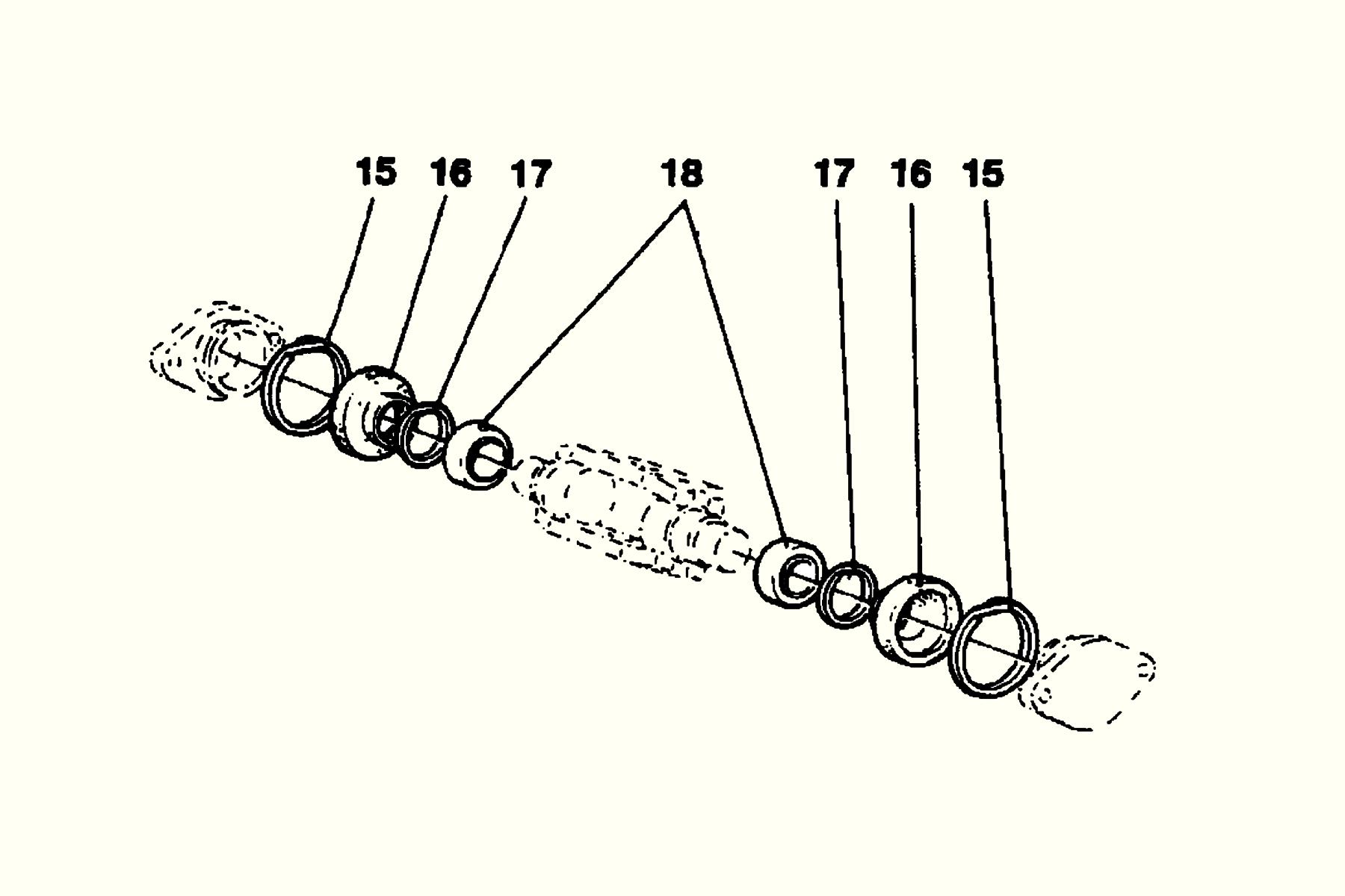 Dampin and tilt cylinder back mount Repair kit häggor Nr: 153 6174-805 Price: 1040 SEK