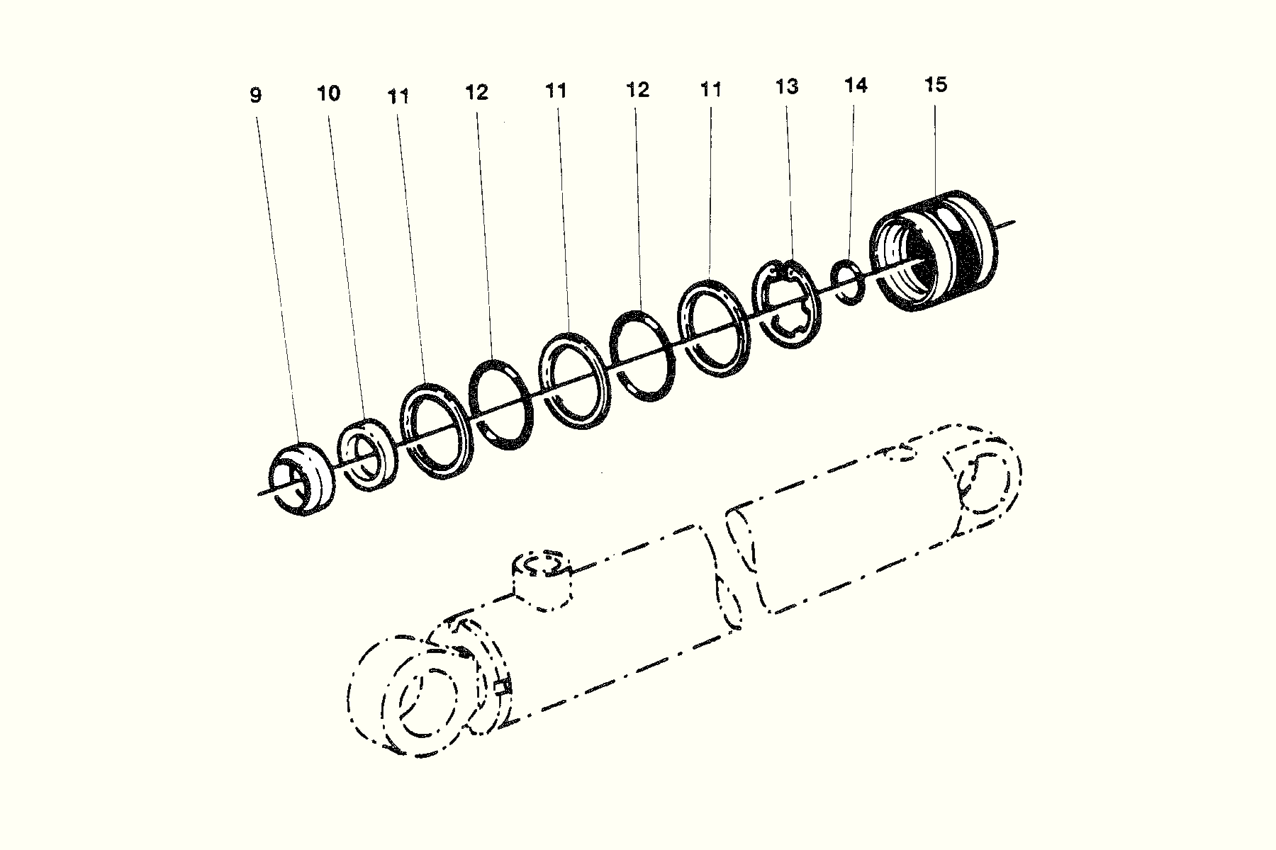 Damping Cylinder Repair kit HÄggo NR: 353 6264-601 Price: 531 SEK