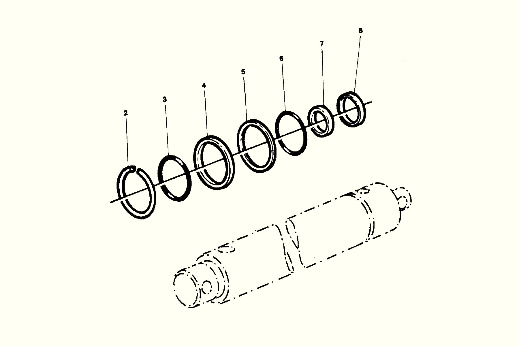 Softtop lift cylinder Repair kit Häggo Nr: 353 6431-601 Price: 100 SEK