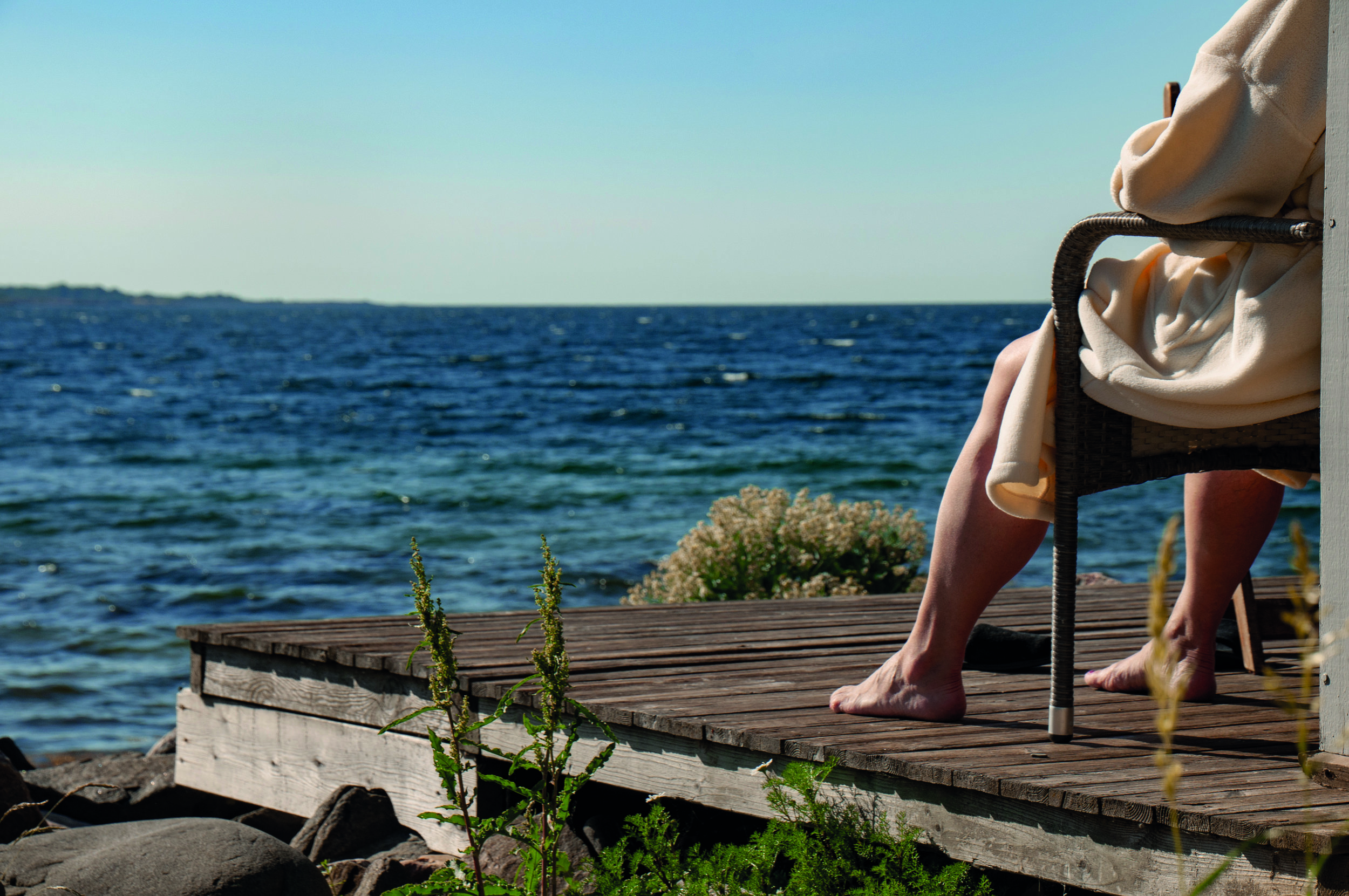 A morning dip in the Baltic Sea.