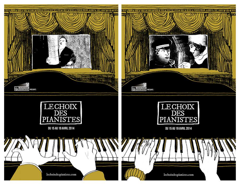 Les affiches officielles du  choix des pianistes , par Todd Stewart.
