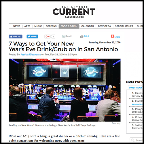 San Antonio Current Recommends Aldo's for New Year's Eve Celebrations