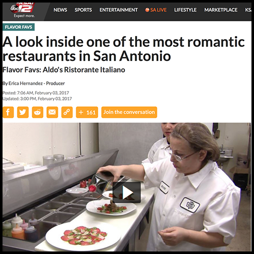 In The News — Aldo's Ristorante Italiano