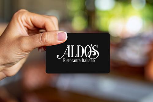 Aldo's Gift Card — Aldo's Ristorante