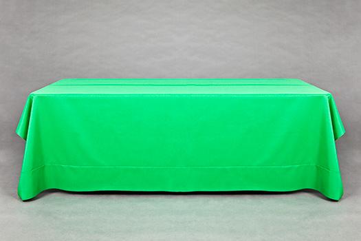 "Table Size: 5ft x 30""    Linen Size: 72"" Square"