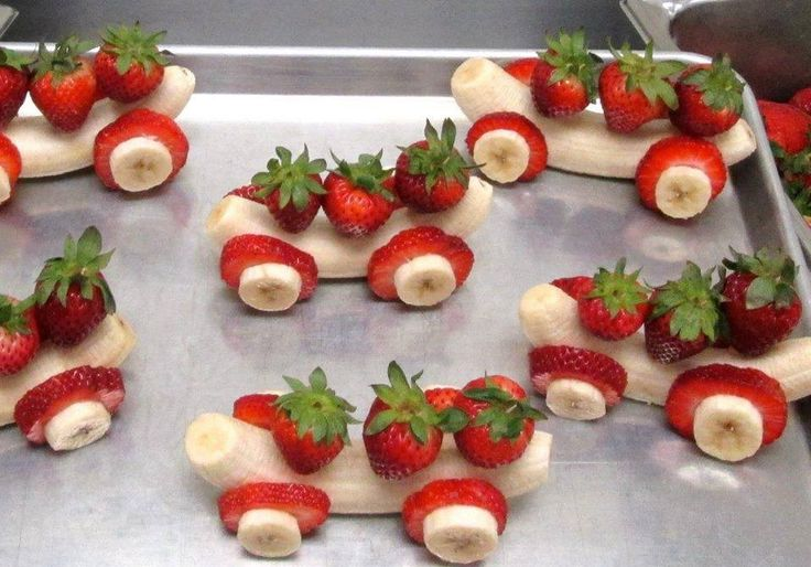 Fruit Race Cars -- Strawberry + Banana