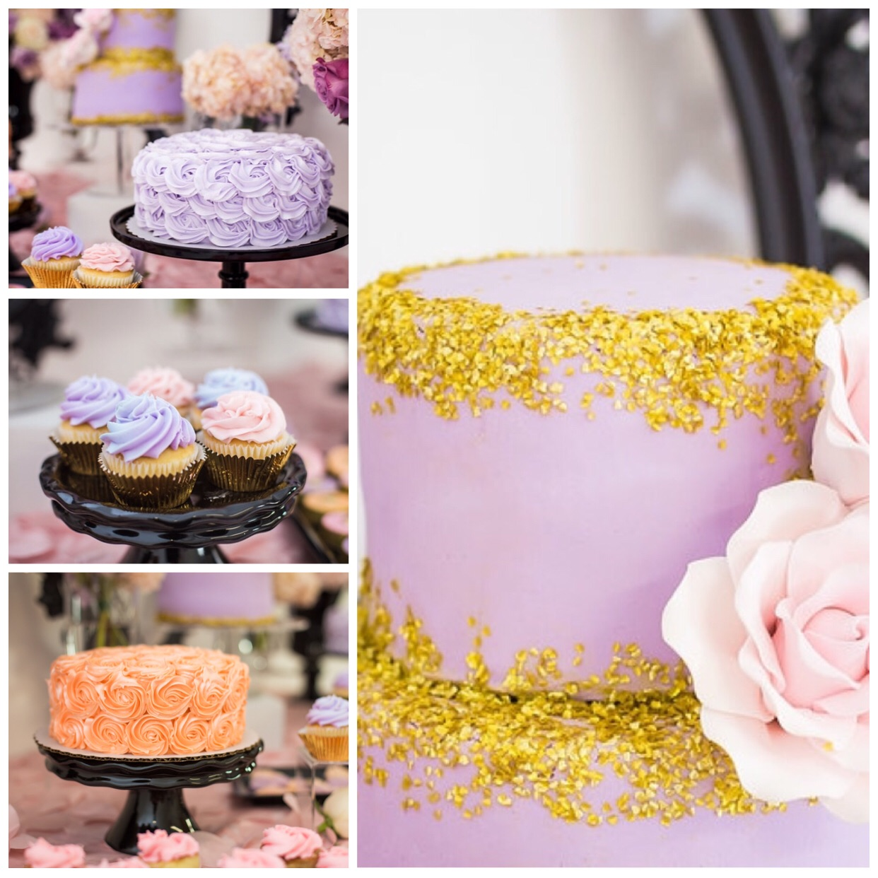 Two tiered cake by Yulissa's Creations