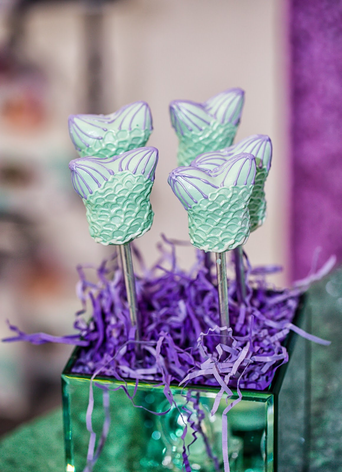 Mermaid Fin Cake Pops