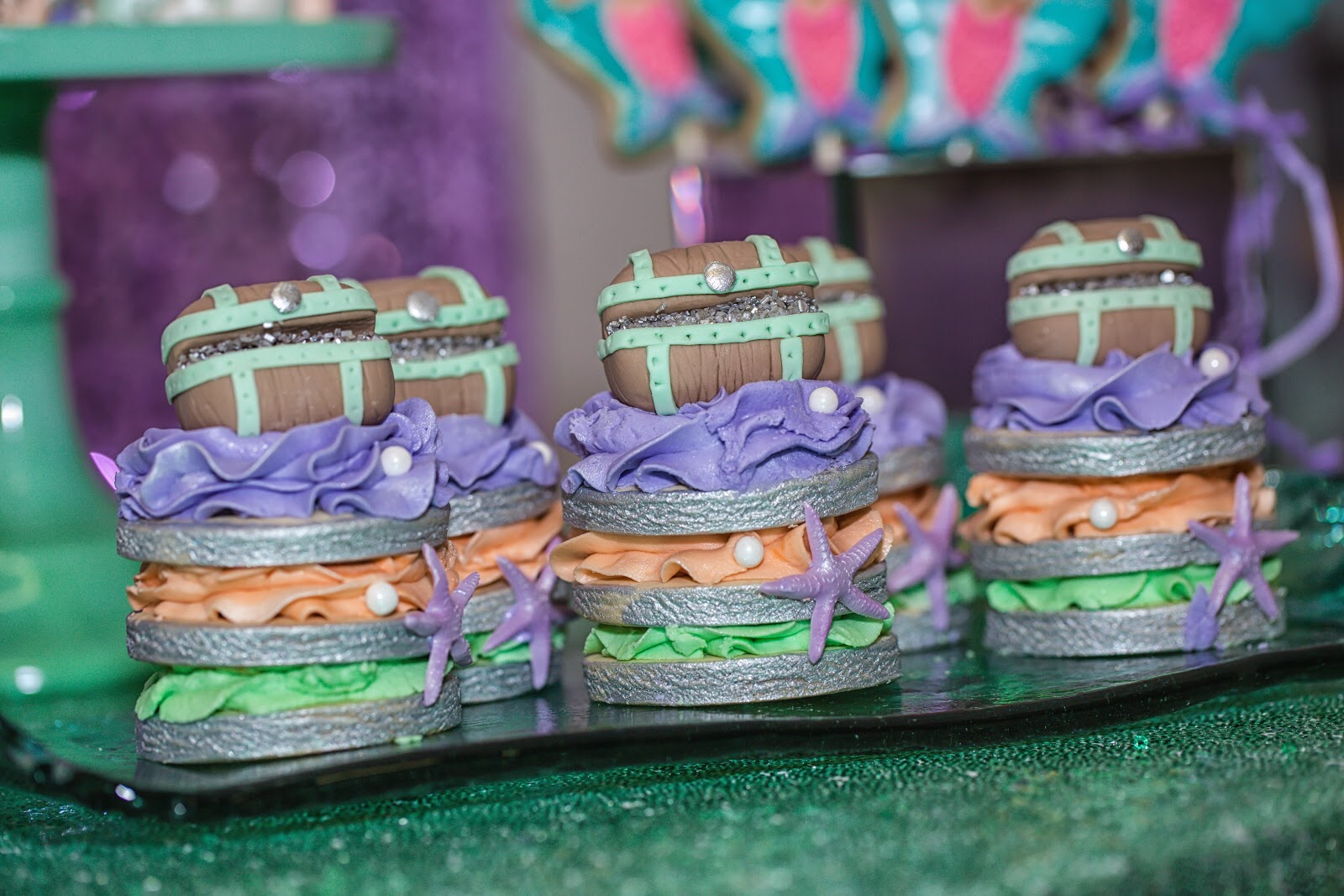 Cookie Towers with a cute treasure chest on top