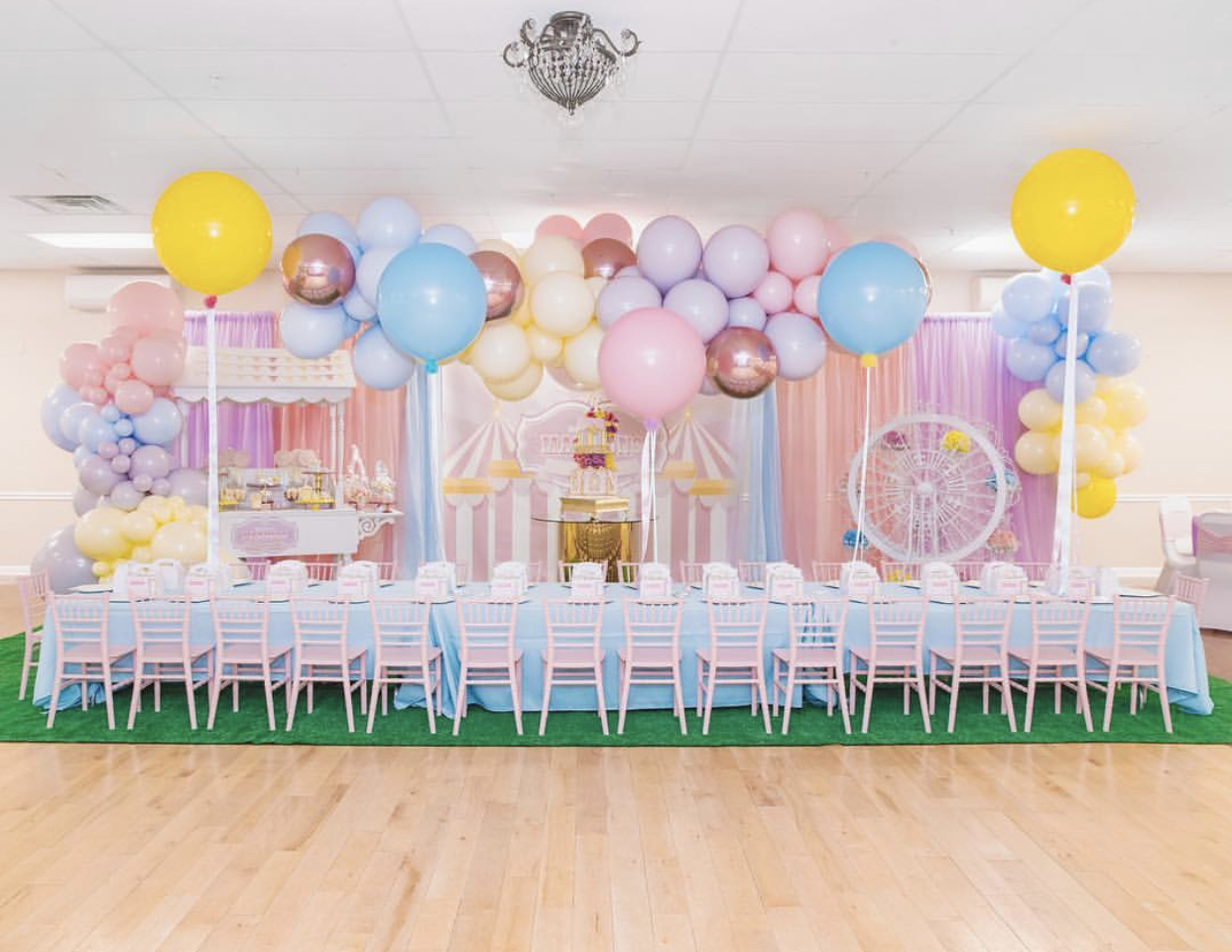 Source It:  •Cake and Desserts @jenn_cakes @mell_cakes •Backdrop, custom decals, and signs @nine26design  •Balloons @indie_bee_balloons   •Event props @big.mamas.party.rentals  •Kids chairs and tables @petiteseats •Photography by @purroy_photo_video