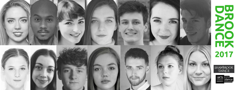 BrookDance 2017 participants are; Nathan Chipps, Carole Debenath, Ellen Finlay, Mintesinot Getachew, Shona Leahy , Aliina Lindroos, Ciara Lynch, Nora Monsecour, Henry Morris, Sean Moss, Harry Parr, Rosie Stebbing, Roisin Whelan and Kathy Young.