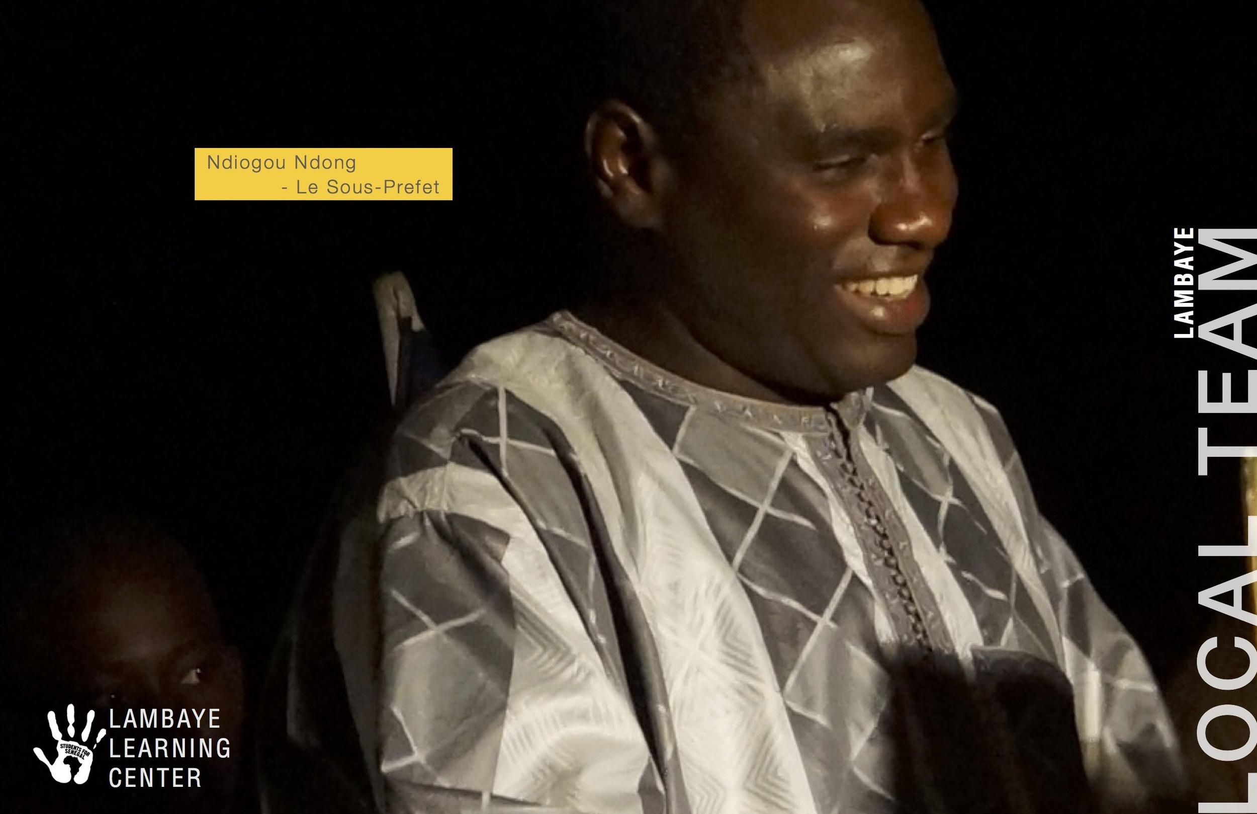 Nidogou Ndong - Le Sous Prefet (village administrator)