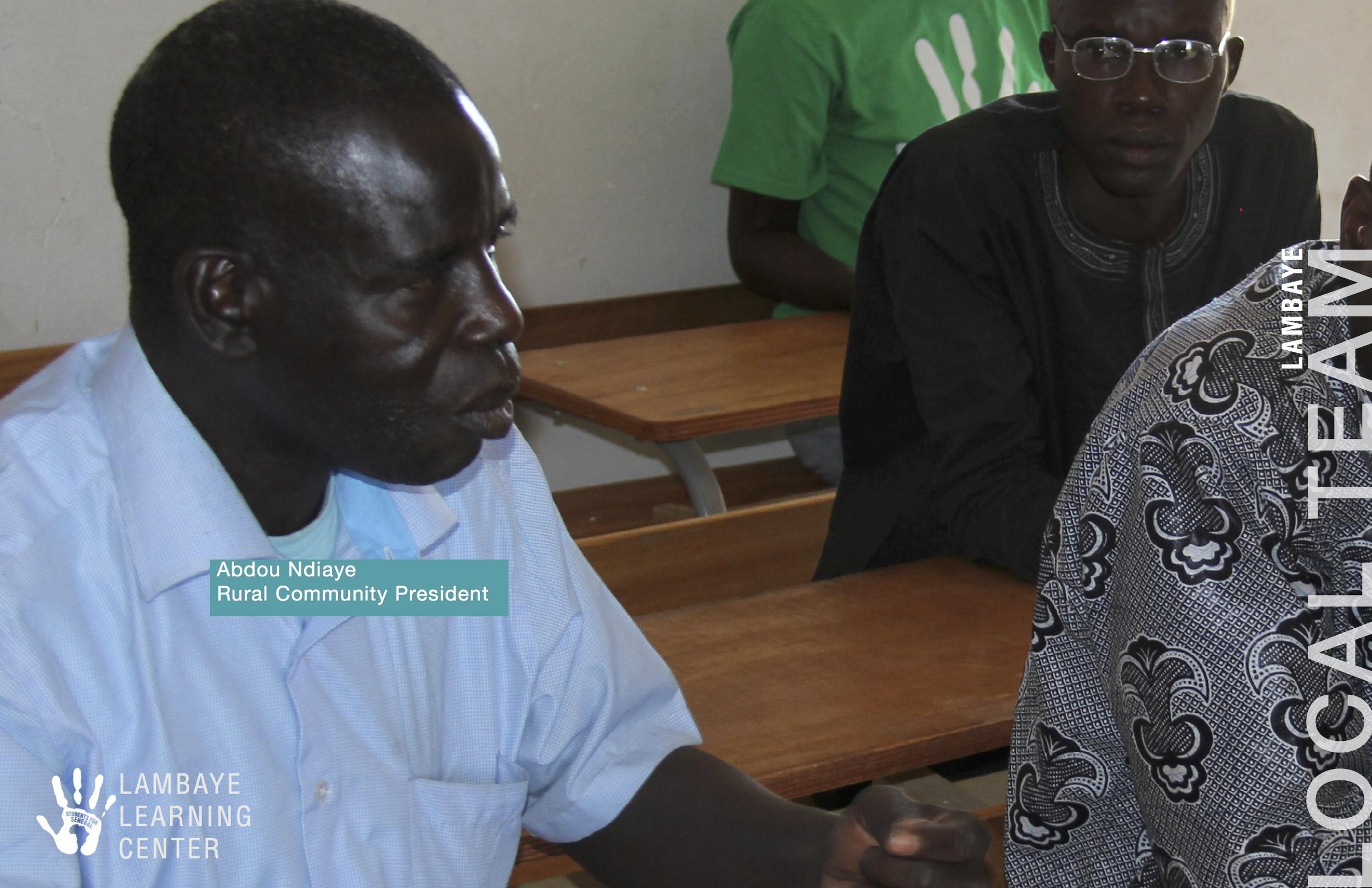 Abdou Ndiaye - Rural Community President