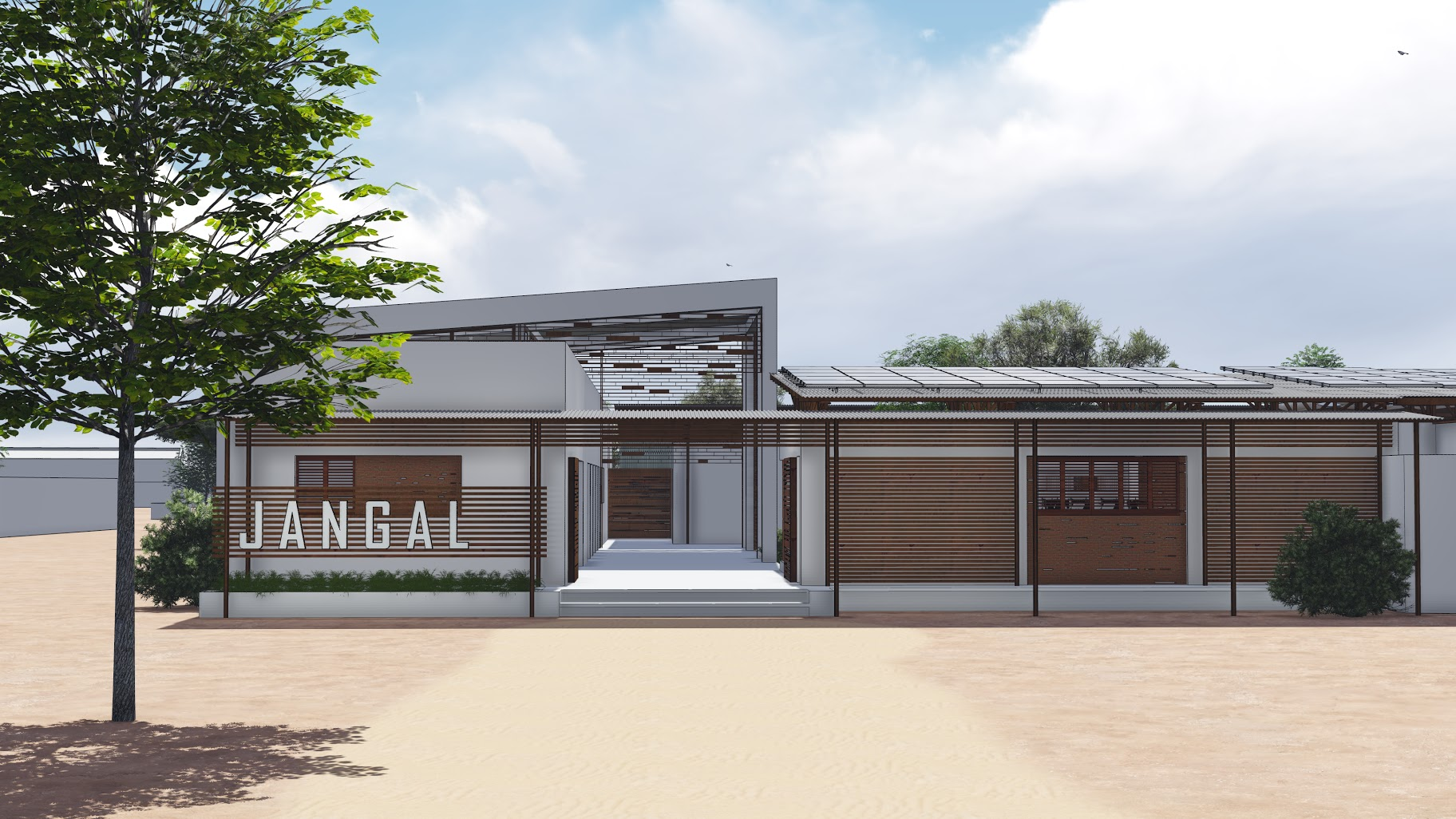 The Lambaye Learning Center, designed by BKSK Architects and the People of Lambaye. Phase I currently under construction.