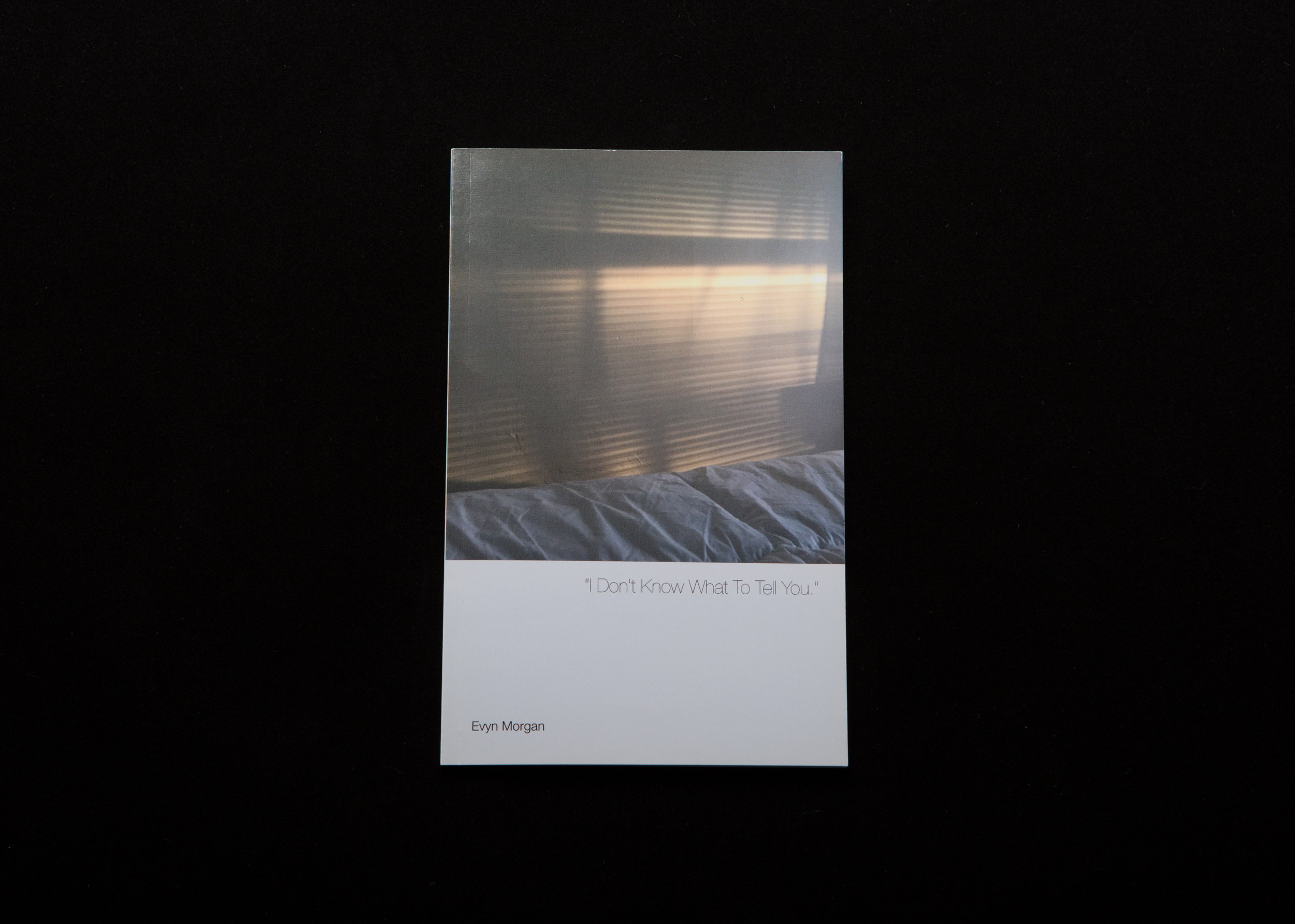 """A 22 page self-published """"artist book"""".  A sequence of images addressing concepts of emotional abandonment, """"perpetual okayness"""", and isolation.    2016"""