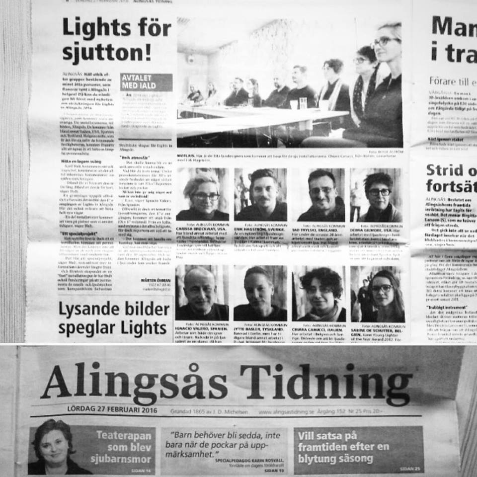 Alingsås Tidning reports on the event preparations.