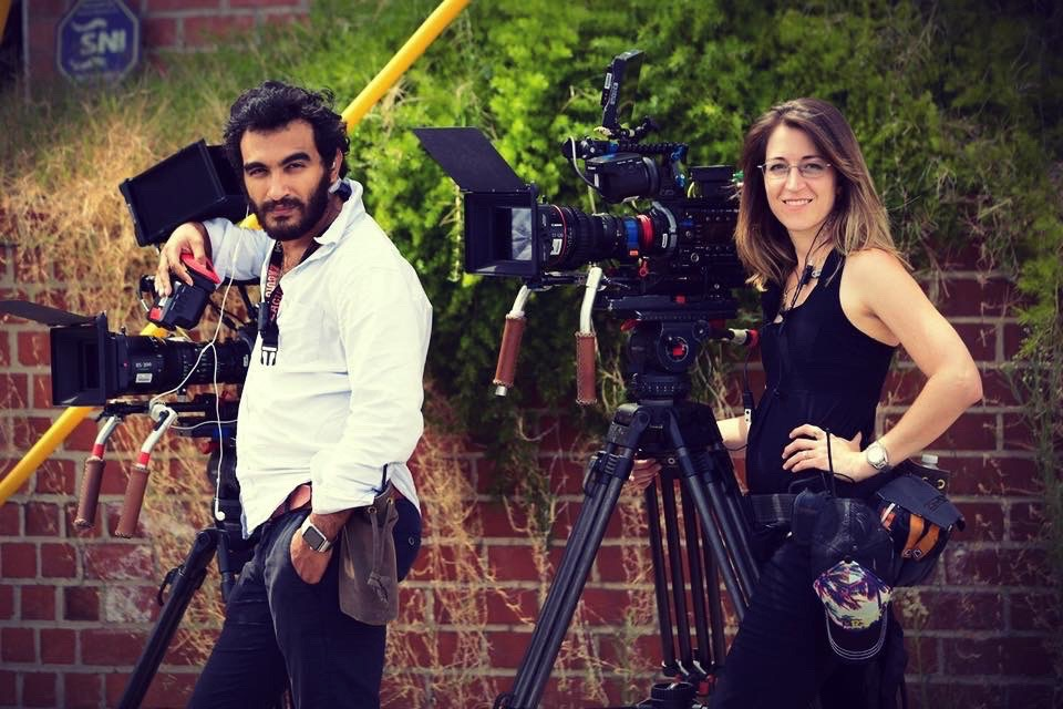 "2015 - Ramy & Sharra shooting an IFC scripted comedy, ""Gigi Does It"""