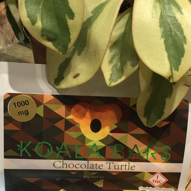 NEW @rootmmc - @koala_bars #1000mg #glutenfree turtle chocolate bars 🍫🐨 @skinny.pineapple  #strongedibles #cannabiscommunity #cannabismedicalpatients