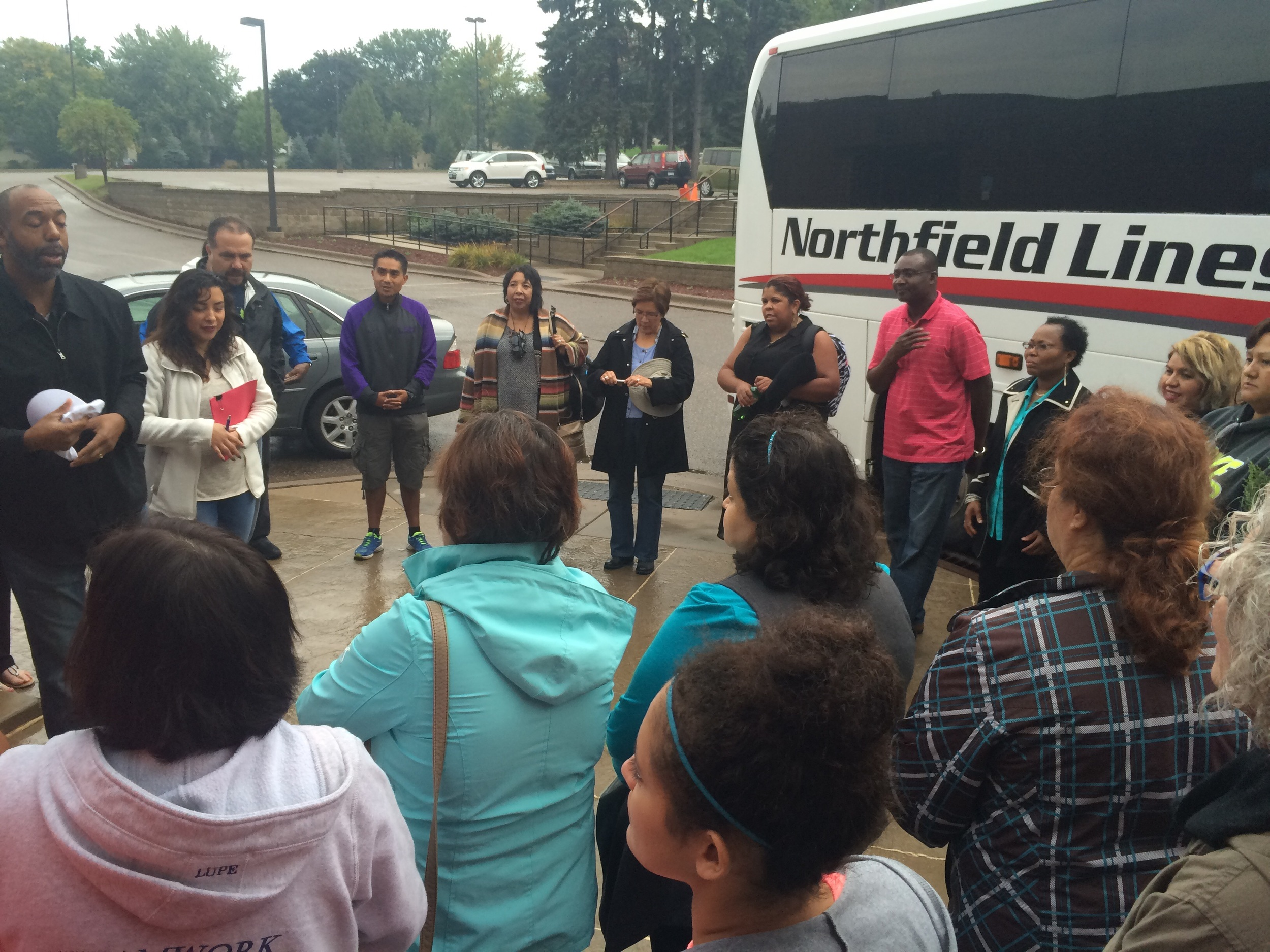 Isaiah Group Pilgrims prior to departure to Philadelphia.