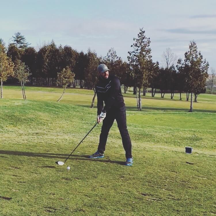 Tee Box Golf Shot