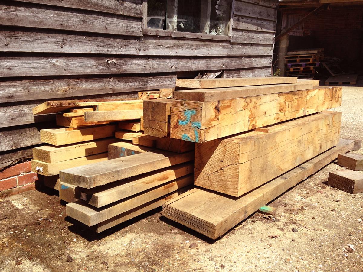 Outdoor oak stock