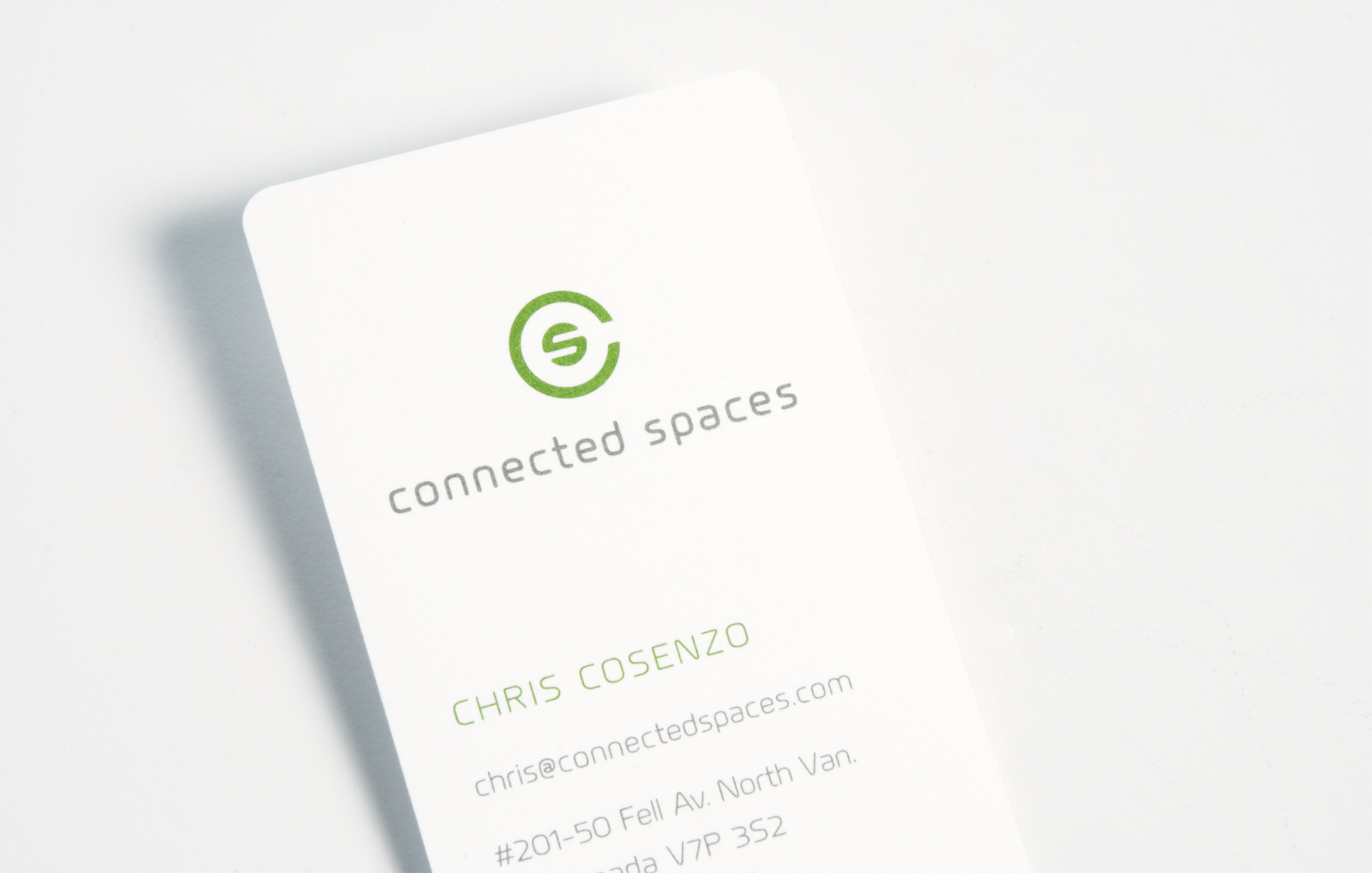 CONNECTED SPACES / identity package /  studio credit :St. Bernadine Mission Communications Inc.