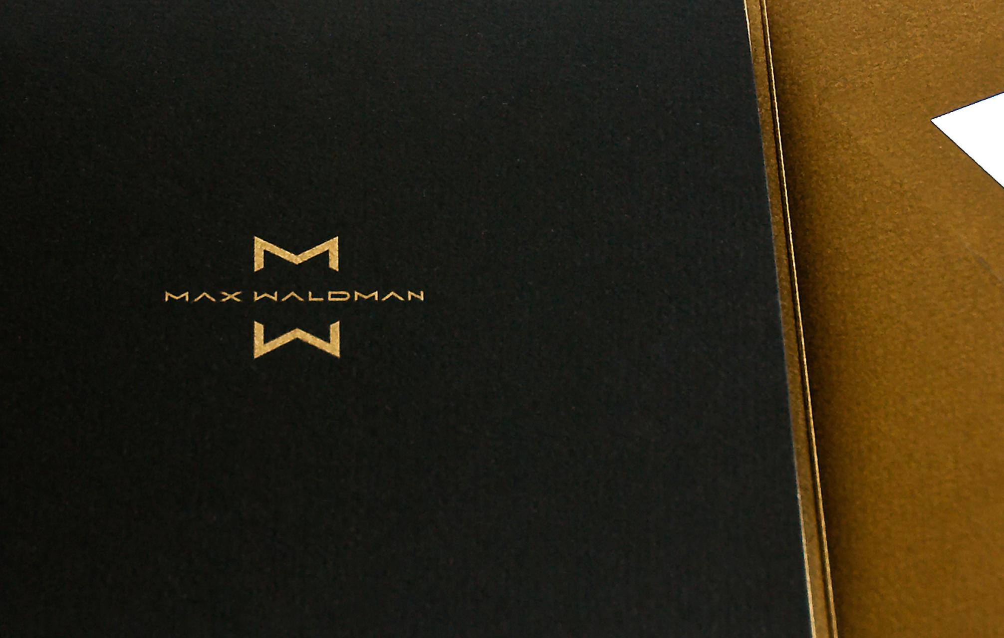 MAX WALDMAN / bar mitzvah logo, invite & event design /  studio credit :St. Bernadine Mission Communications Inc.