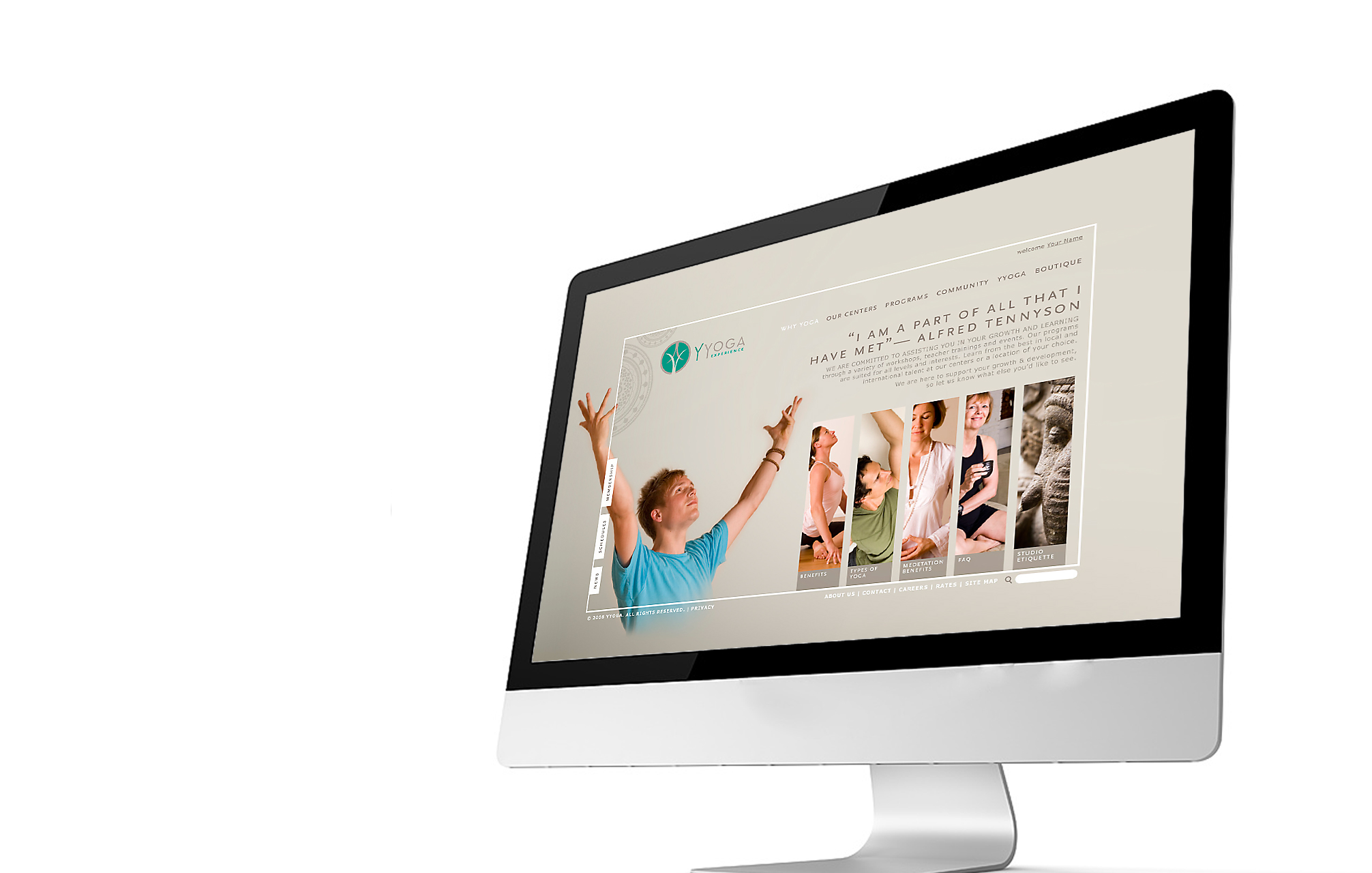YYOGA / website design /  studio credit :Traction Creative Communications