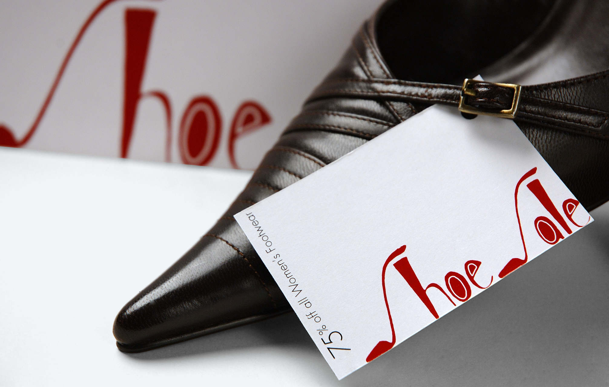 SHOE SALE / hand lettering for in-store display & promotional materials