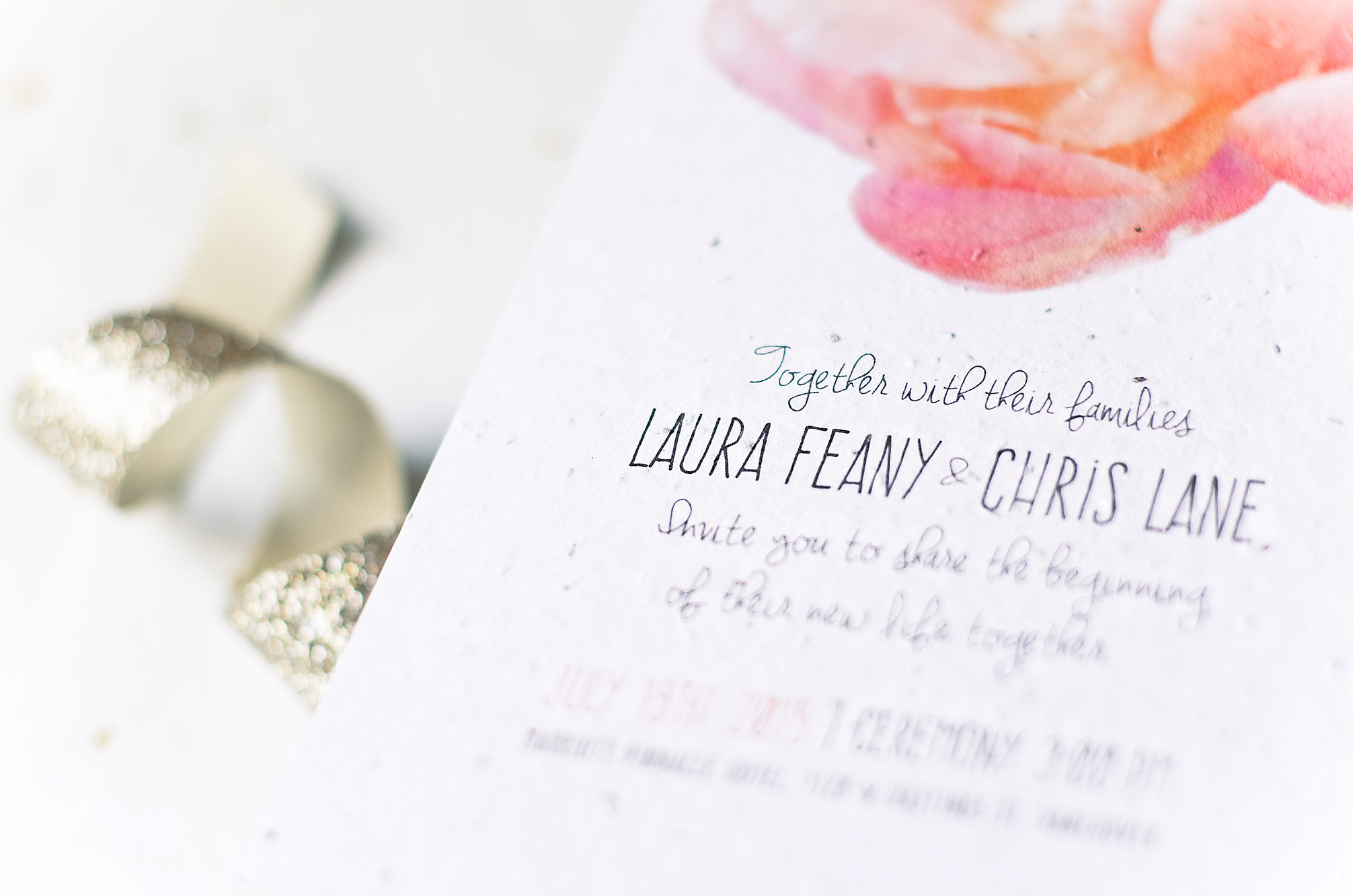 LAURA & CHRIS   /  wedding invitation