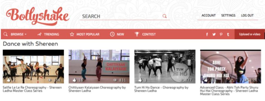 Bollywood dancer choreographer teacher instructor Shereen Ladha
