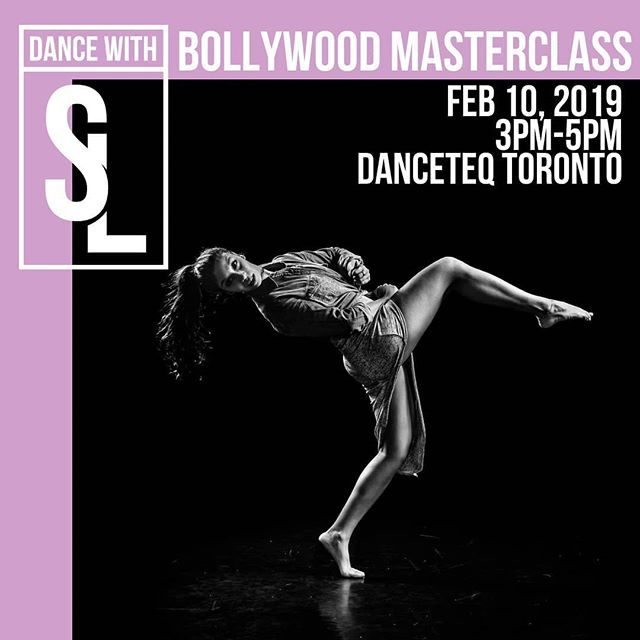 My masterclasses in my home city have sadly become a rarity, but y'all asked and so you SHALL RECEIVE! TORONTO: #DANCEWITHSL BOLLYWOOD MASTER CLASS is going down! 📅: Sunday, February 10, 2019 3PM-5PM 🚩: DanceTeq Studio A, Toronto  Register at www.shereenladha.com/shop and use the promo code 'ERLYBRD19' until Feb 4 for $5 off  Tag a friend you want to drag to my workshop and let's get our Bollywood on! Can't wait to dance with y'all!