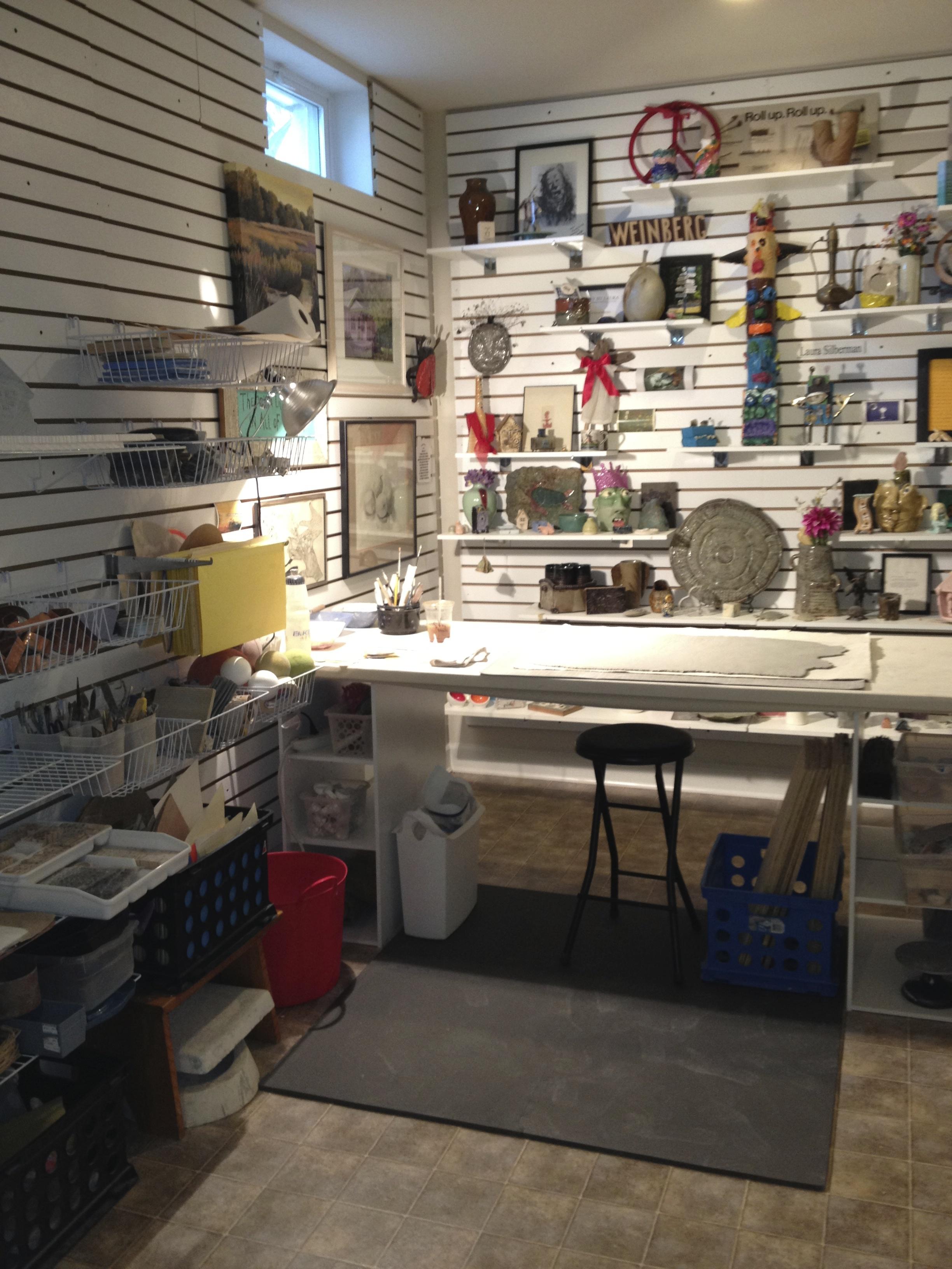Clay Area of My Studio