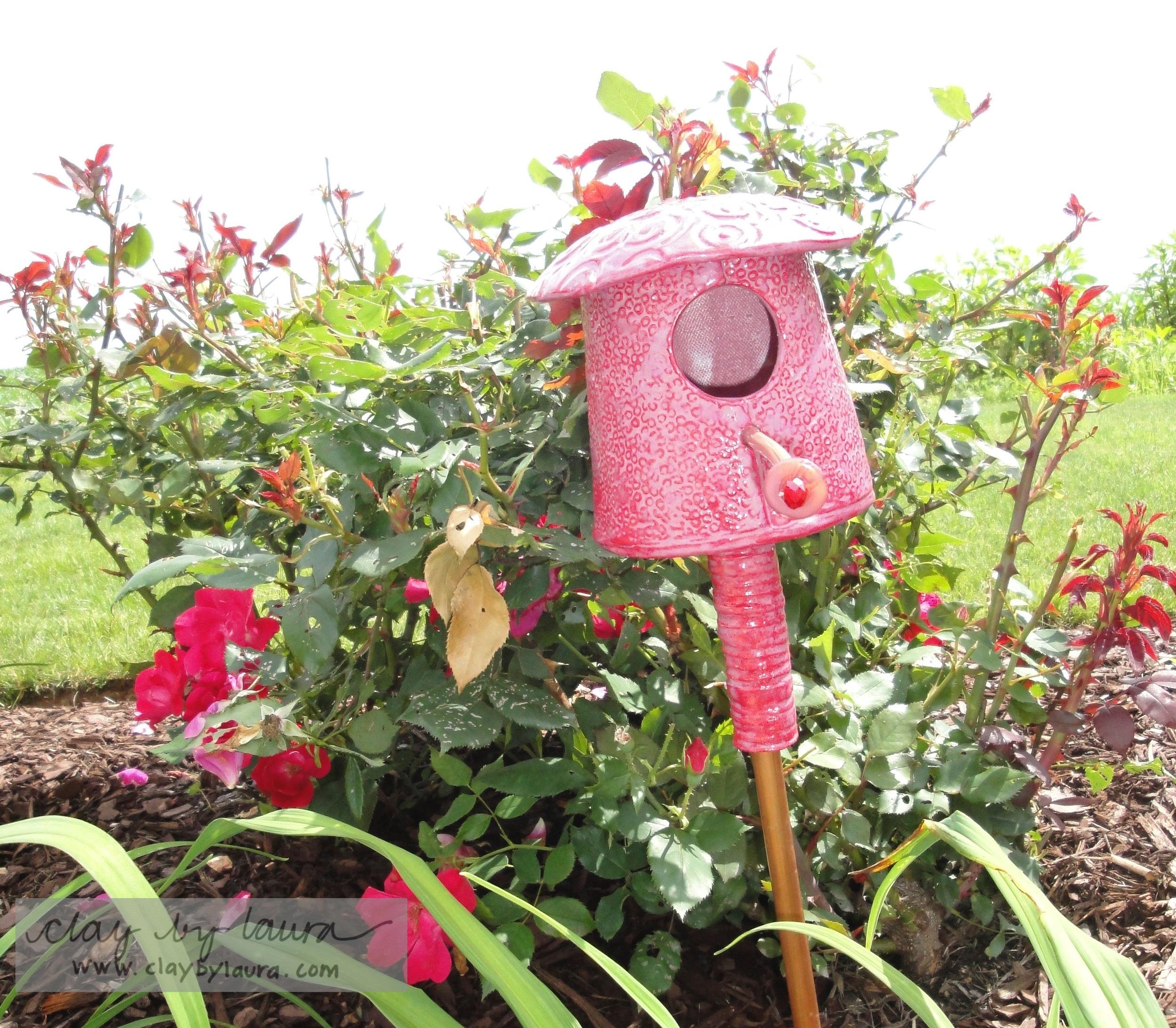 Bird House in the Garden.