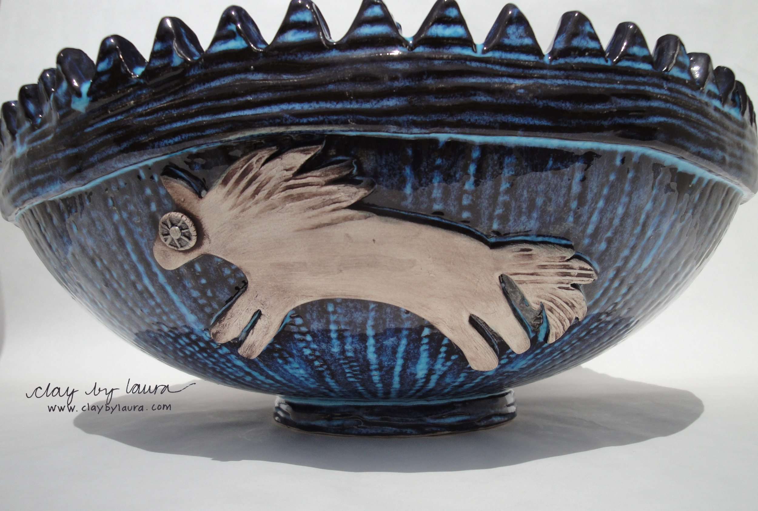 Here is a photo of the commissioned bowl I've been working on.