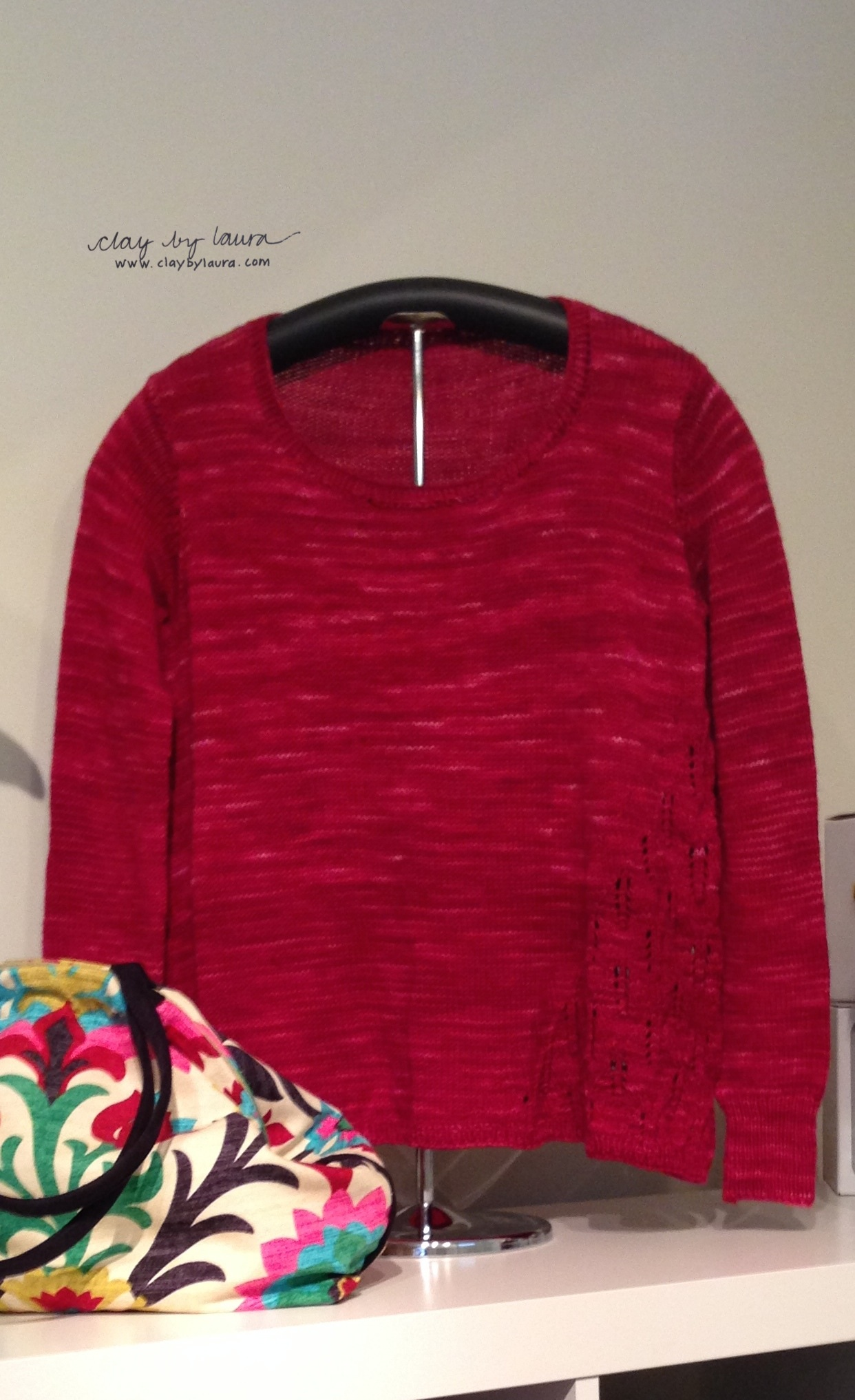 My latest sweater is on display at  The Knot House  in Frederick, Md.