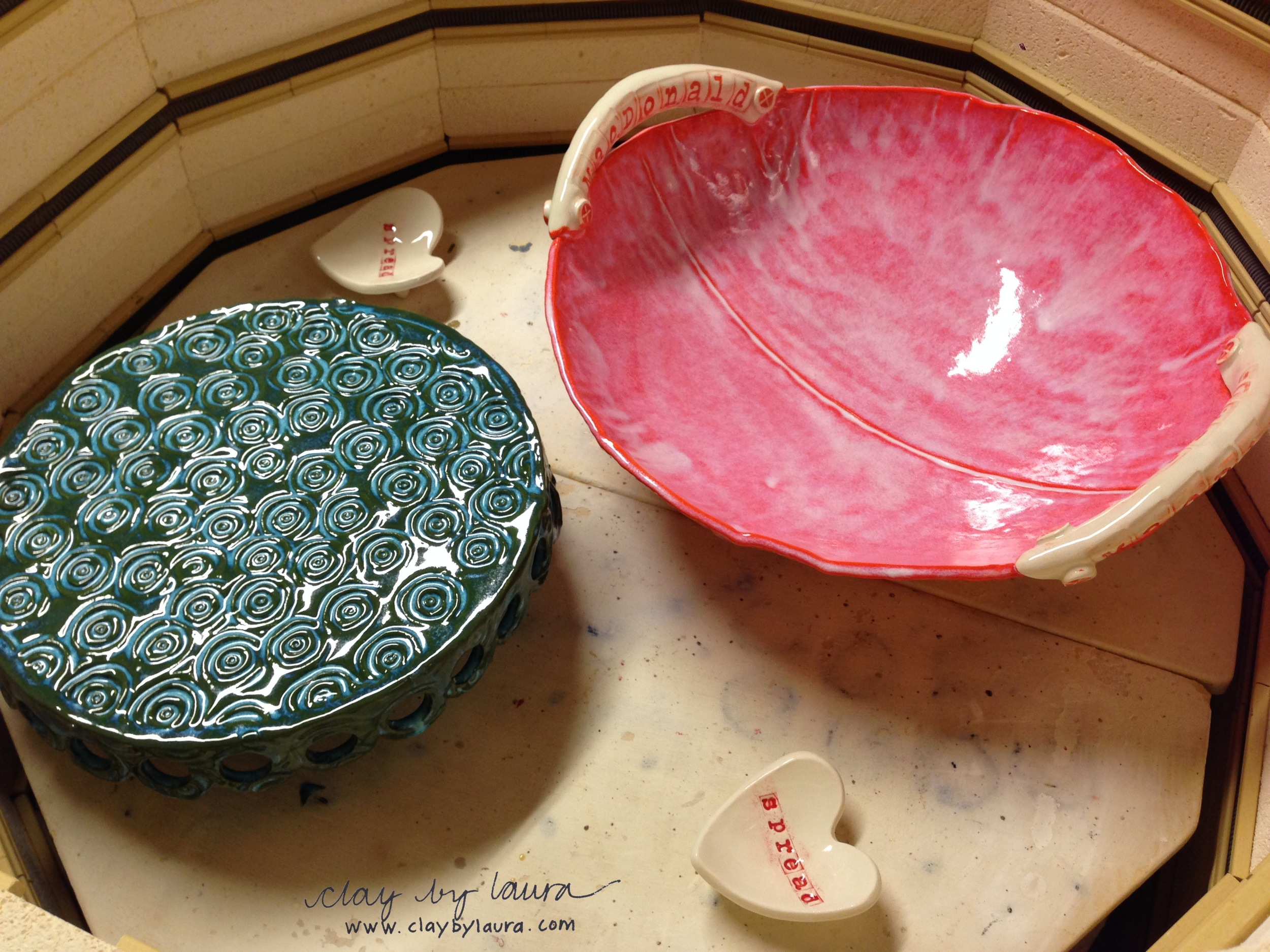 The kiln has been firing all week with new work.
